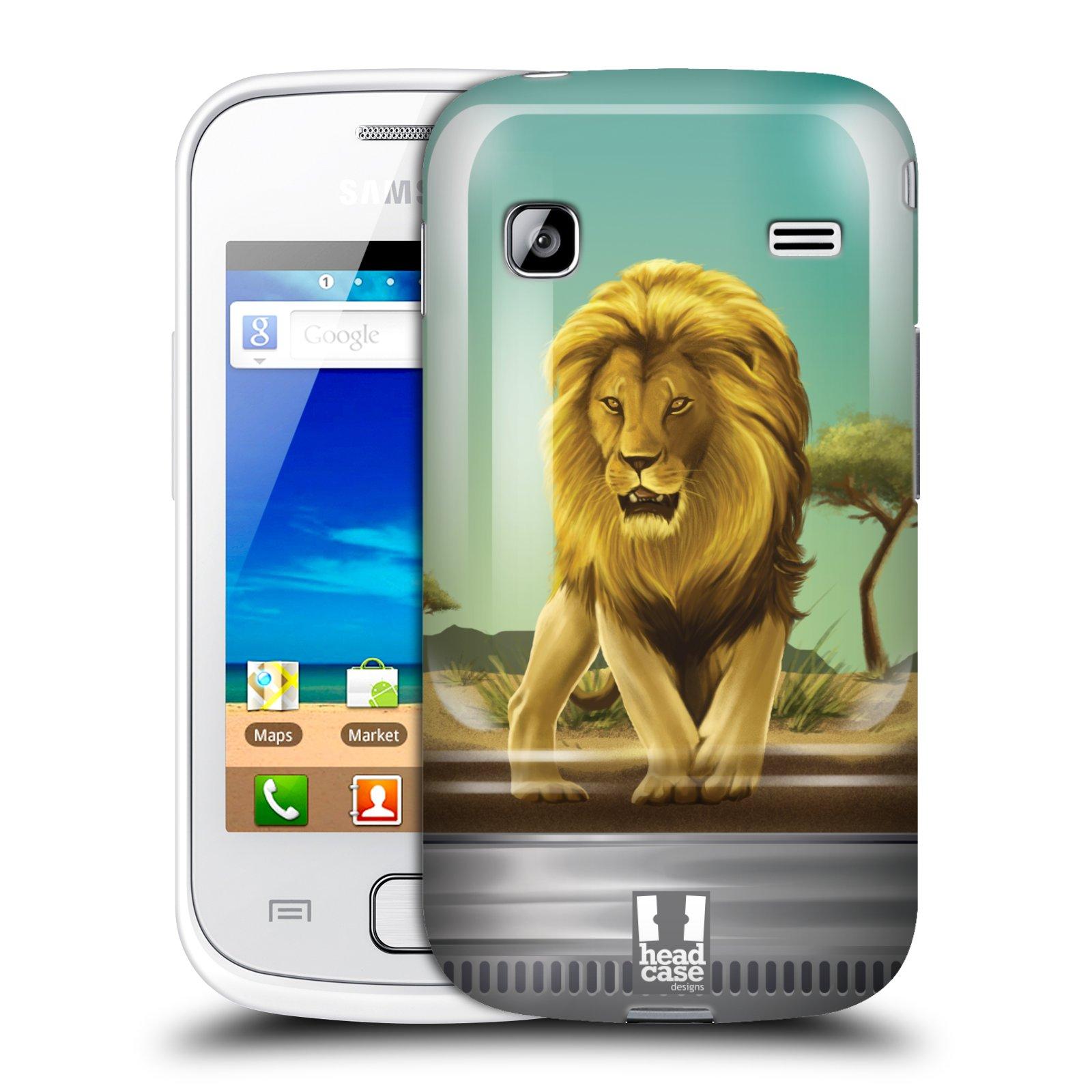 HEAD CASE plastový obal na mobil SAMSUNG GALAXY GIO (S5660) vzor Zvířátka v těžítku lev