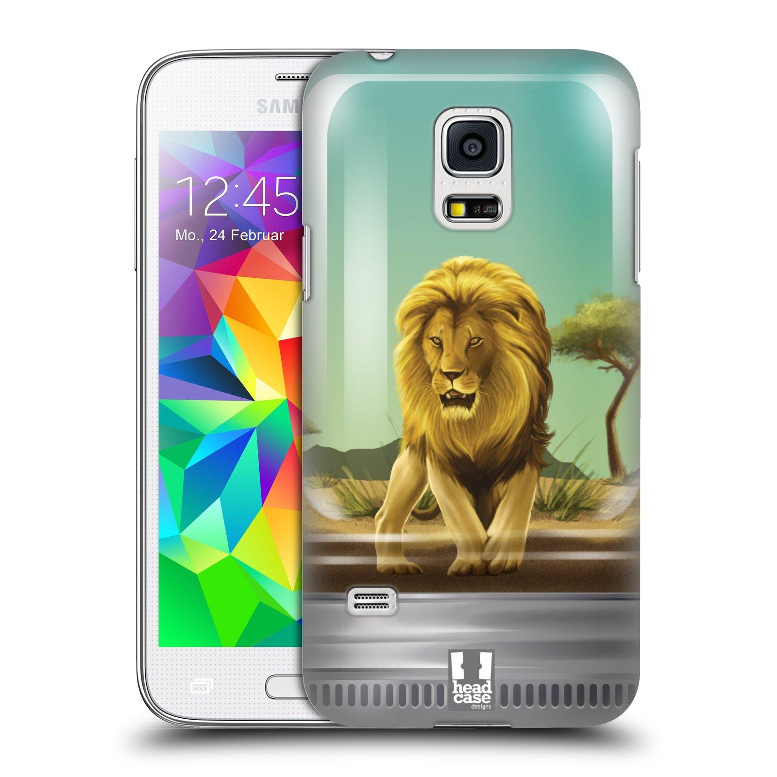 HEAD CASE plastový obal na mobil SAMSUNG Galaxy S5 MINI / S5 MINI DUOS vzor Zvířátka v těžítku lev