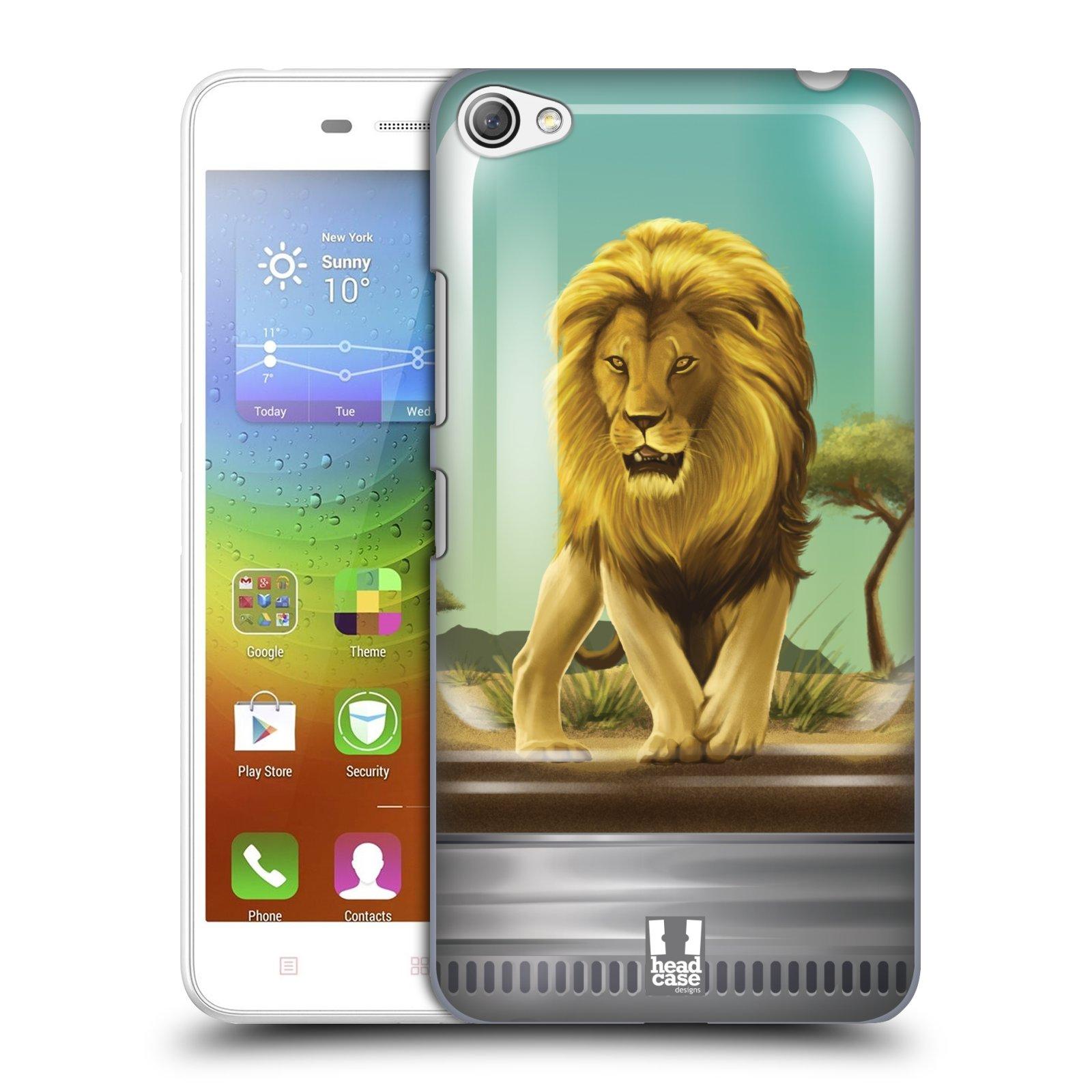 HEAD CASE pevný plastový obal na mobil LENOVO S60 / LENOVO S60 DUAL SIM vzor Zvířátka v těžítku lev