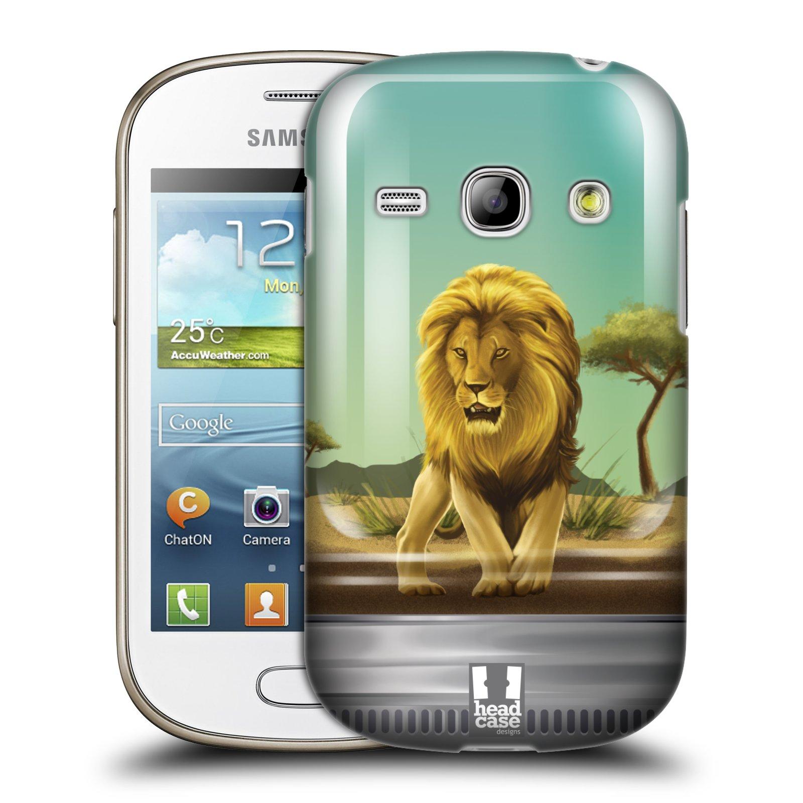 HEAD CASE plastový obal na mobil SAMSUNG GALAXY FAME (S6810) vzor Zvířátka v těžítku lev