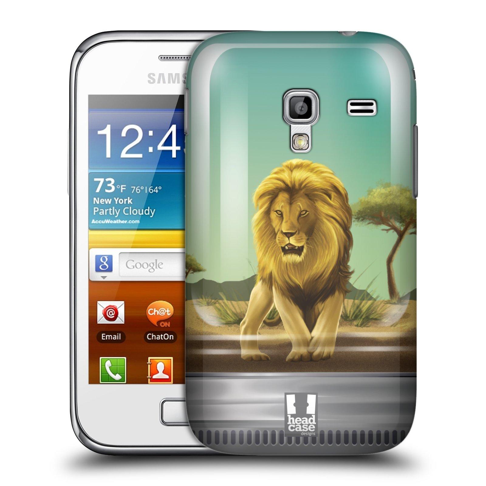 HEAD CASE plastový obal na mobil SAMSUNG GALAXY ACE PLUS (S7500) vzor Zvířátka v těžítku lev