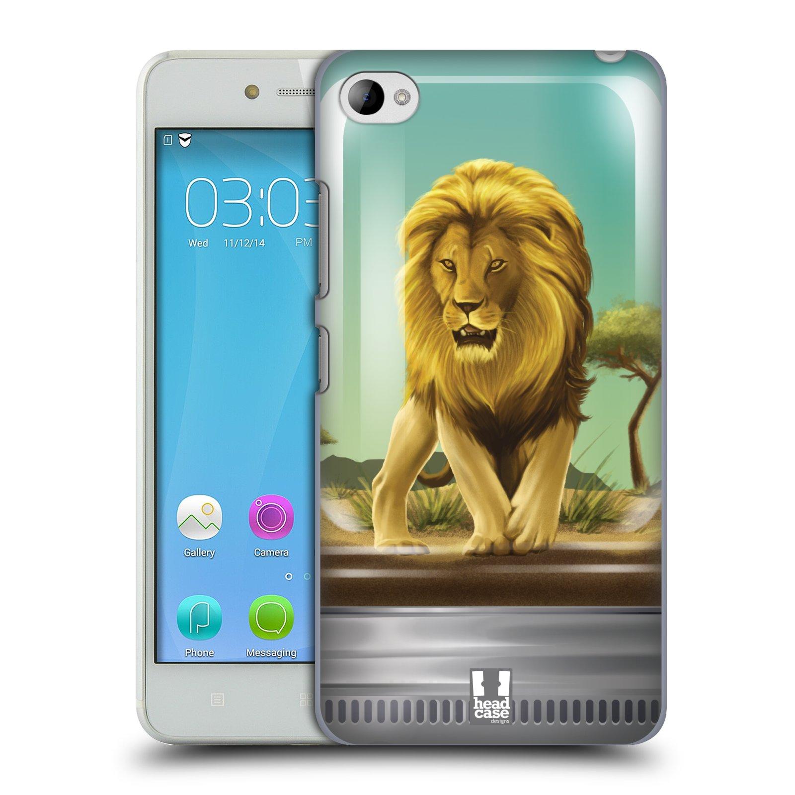 HEAD CASE pevný plastový obal na mobil LENOVO S90 vzor Zvířátka v těžítku lev