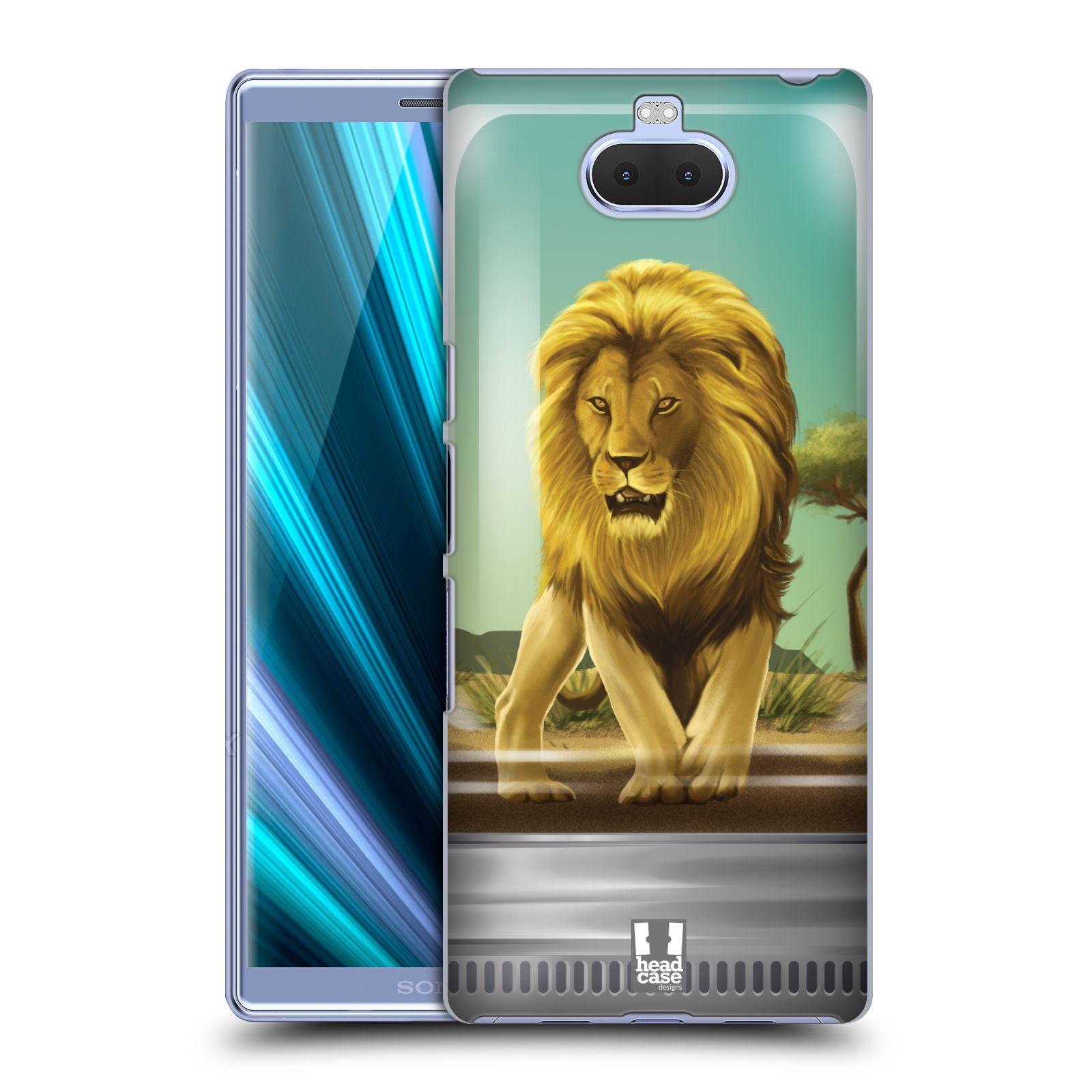 Pouzdro na mobil Sony Xperia 10 - Head Case - vzor Zvířátka v těžítku lev