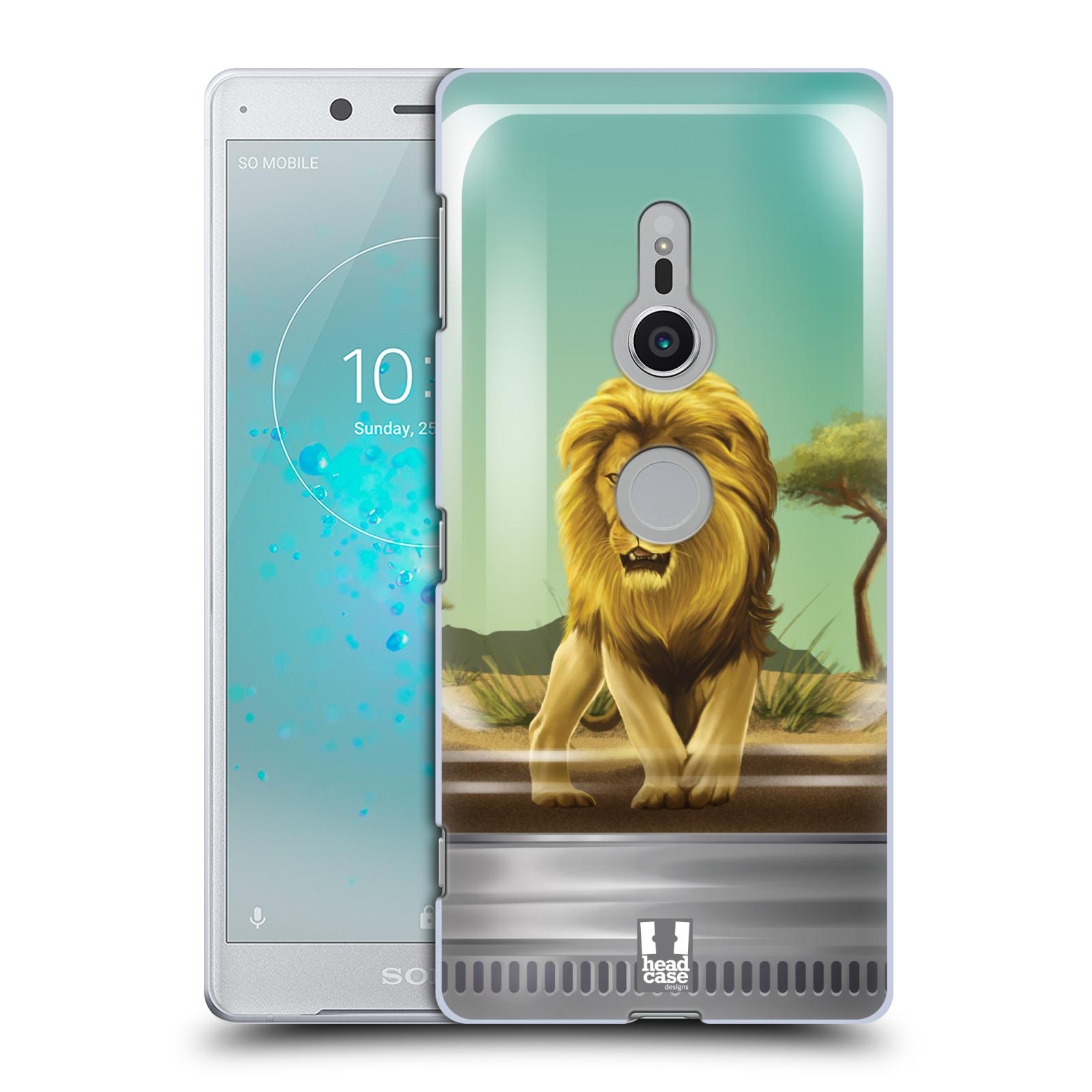 HEAD CASE plastový obal na mobil Sony Xperia XZ2 vzor Zvířátka v těžítku lev