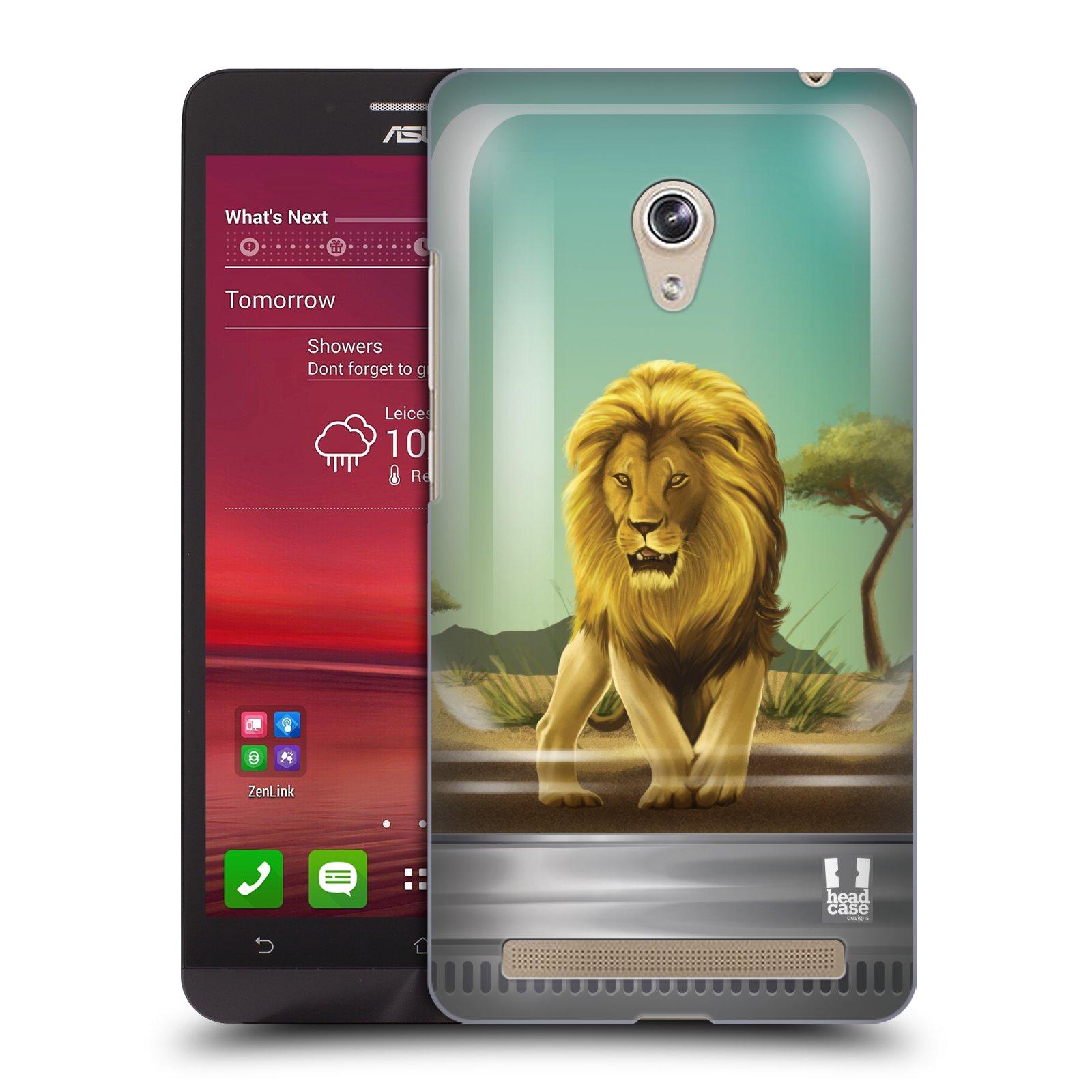 HEAD CASE plastový obal na mobil Asus Zenfone 6 vzor Zvířátka v těžítku lev