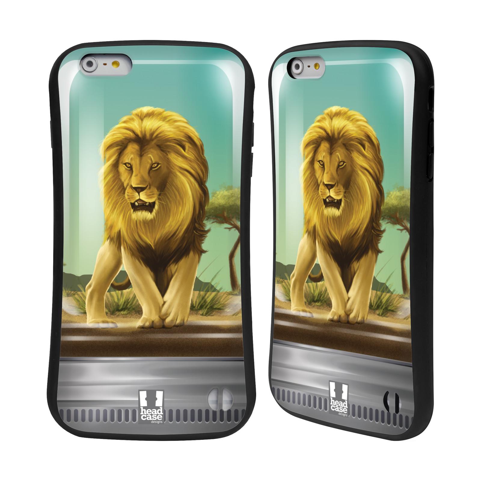 HEAD CASE silikon/plast odolný obal na mobil Apple Iphone 6 PLUS / 6S PLUS vzor Zvířátka v těžítku lev