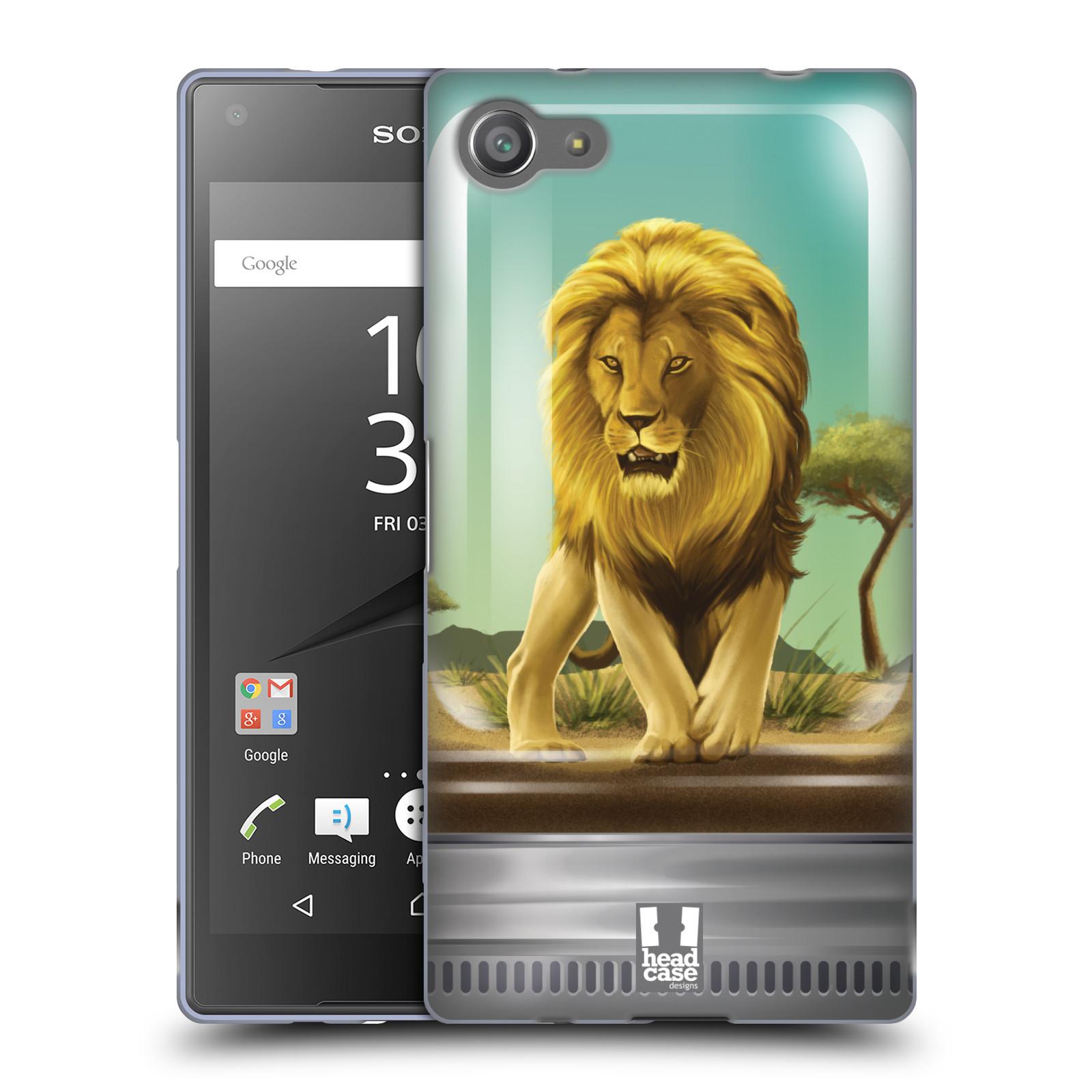 HEAD CASE silikonový obal na mobil Sony Xperia Z5 COMPACT vzor Zvířátka v těžítku lev