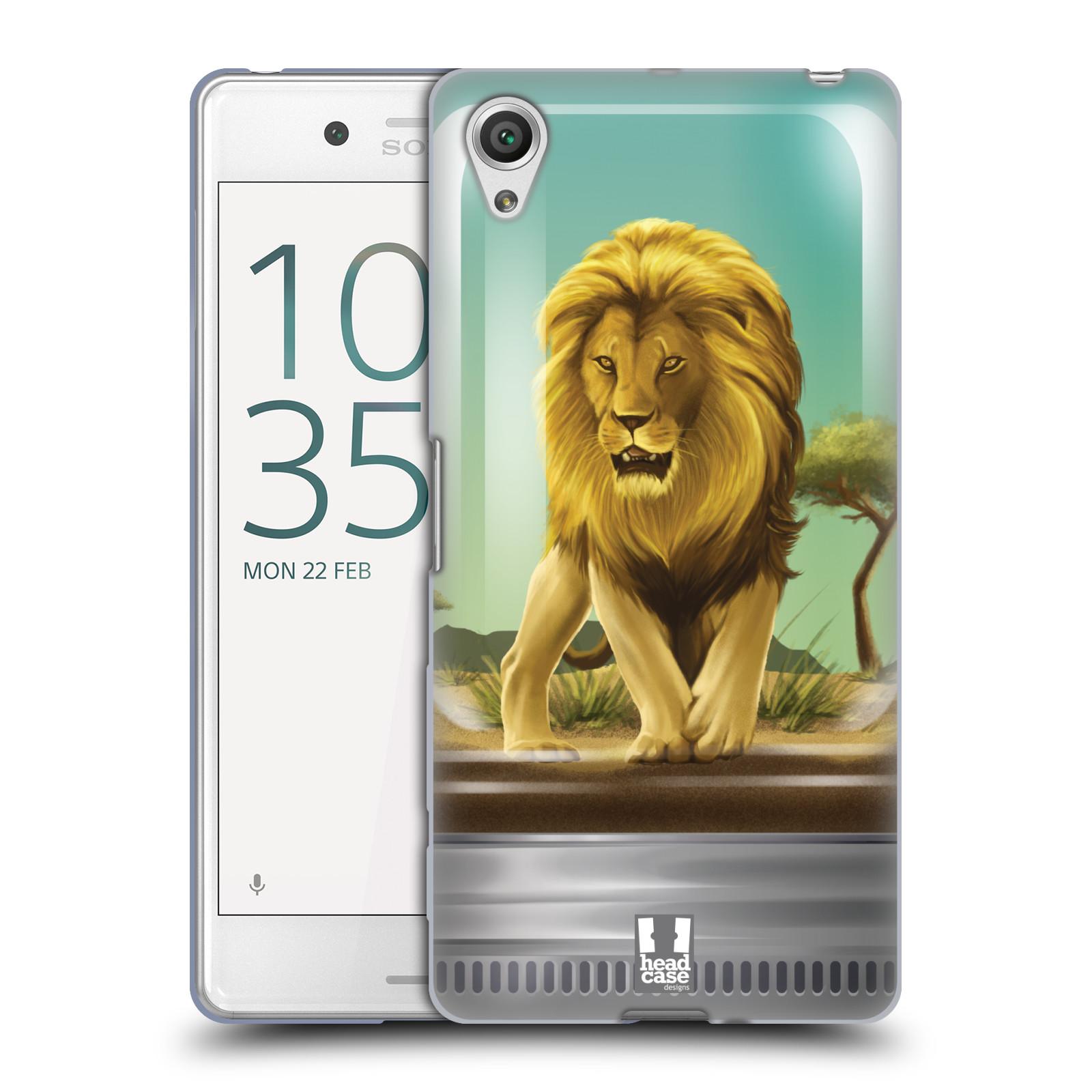 HEAD CASE silikonový obal na mobil Sony Xperia X PERFORMANCE (F8131, F8132) vzor Zvířátka v těžítku lev