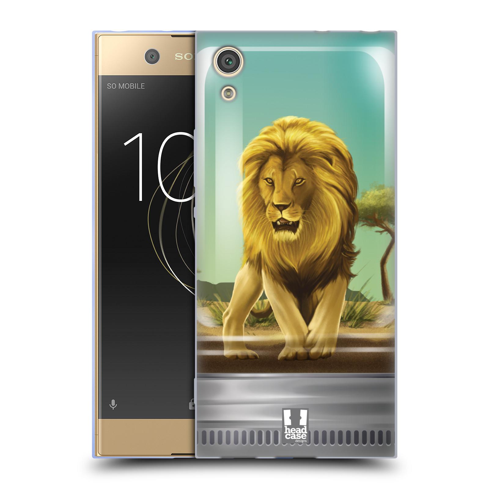 HEAD CASE silikonový obal na mobil Sony Xperia XA1 / XA1 DUAL SIM vzor Zvířátka v těžítku lev
