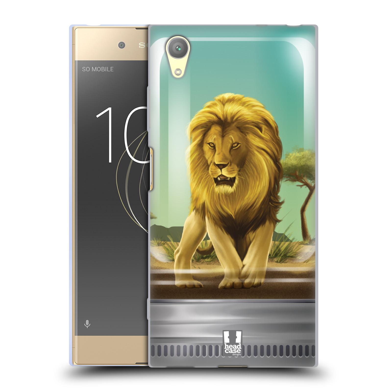 HEAD CASE silikonový obal na mobil Sony Xperia XA1 PLUS vzor Zvířátka v těžítku lev