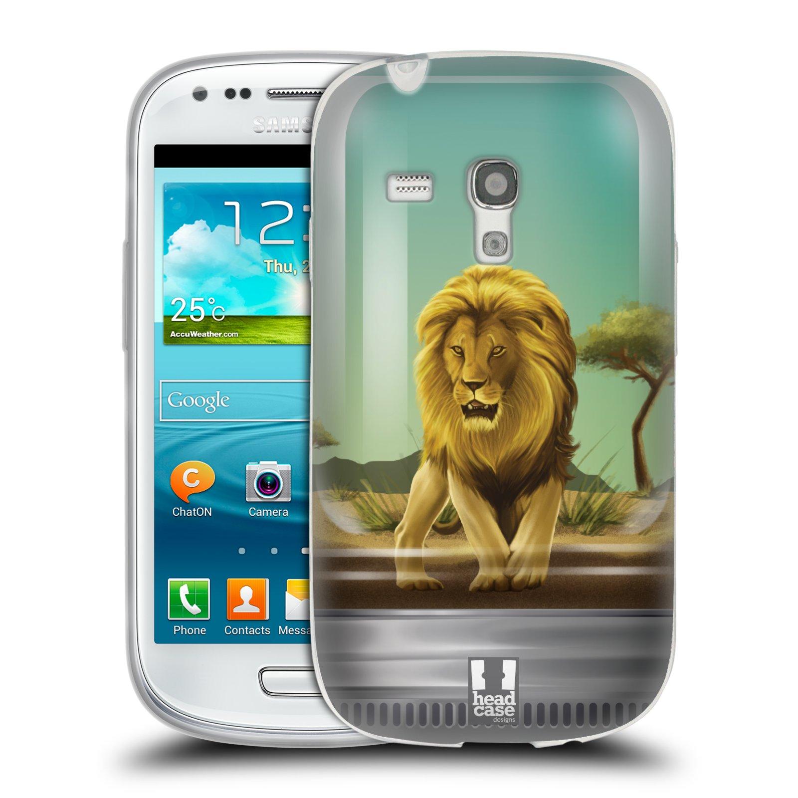 HEAD CASE silikonový obal na mobil Samsung Galaxy S3 MINI i8190 vzor Zvířátka v těžítku lev