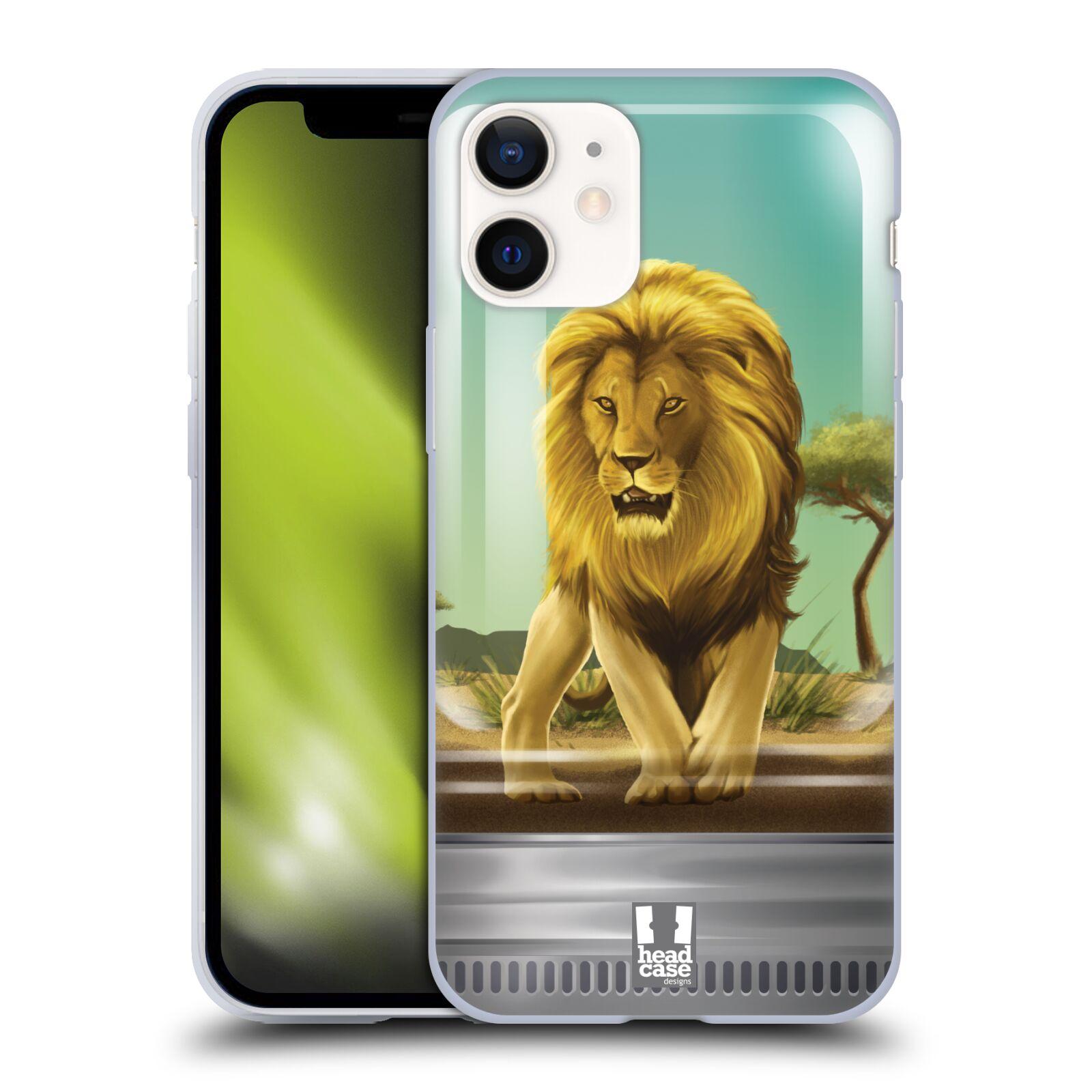 Plastový obal na mobil Apple Iphone 12 MINI vzor Zvířátka v těžítku lev