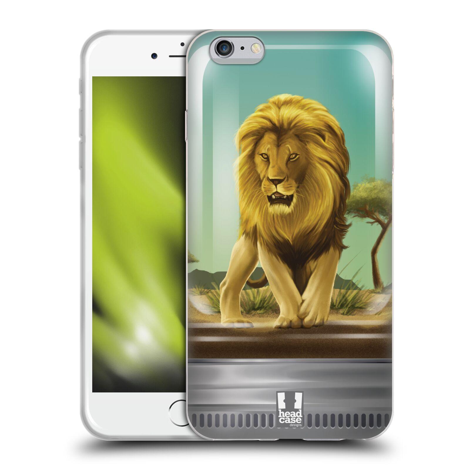 HEAD CASE silikonový obal na mobil Apple Iphone 6 PLUS/ 6S PLUS vzor Zvířátka v těžítku lev