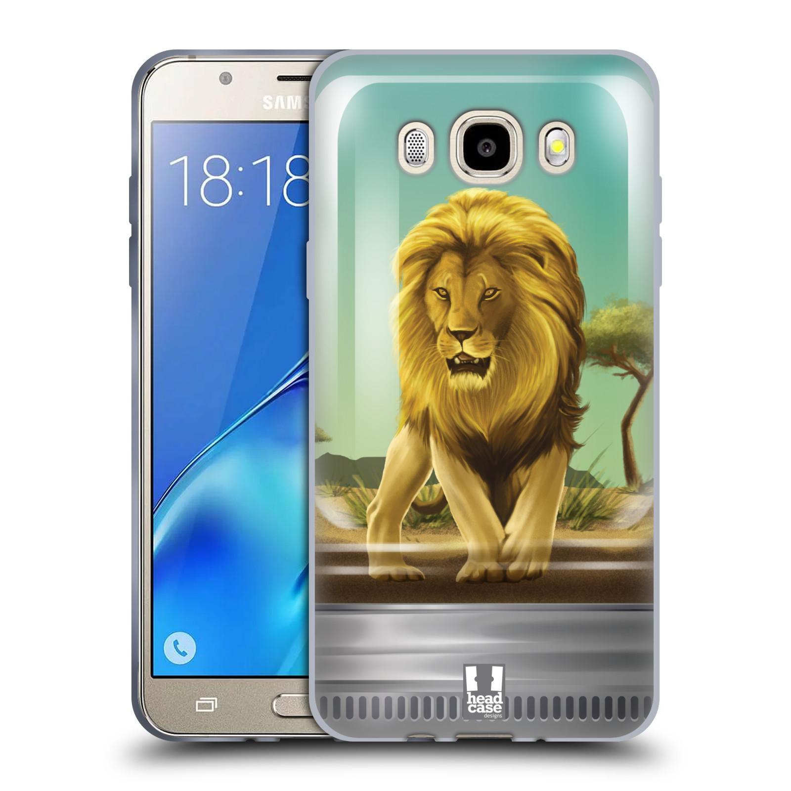 HEAD CASE silikonový obal, kryt na mobil Samsung Galaxy J5 2016, J510, J510F, (J510F DUAL SIM) vzor Zvířátka v těžítku lev