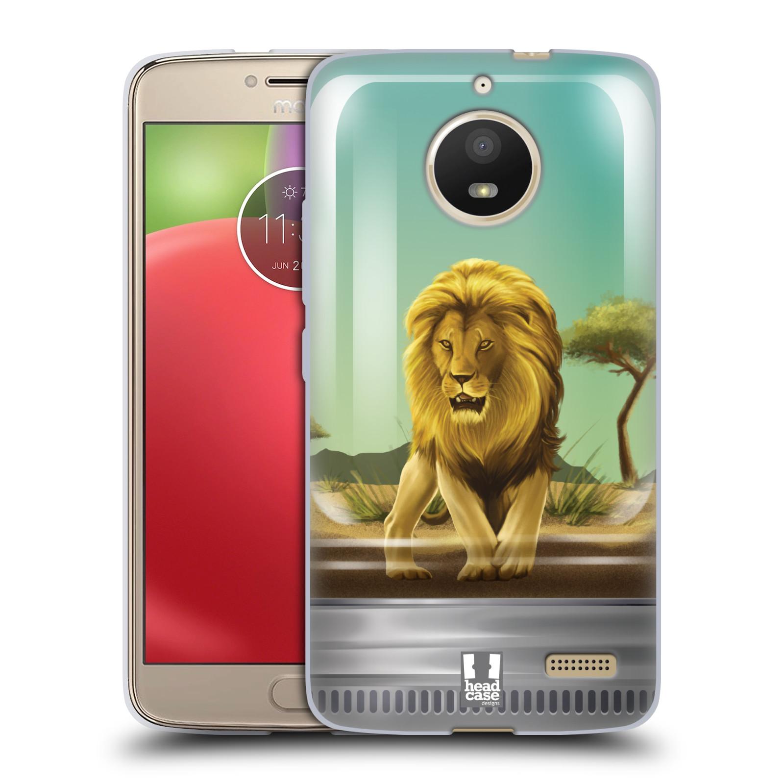 HEAD CASE silikonový obal na mobil Lenovo Moto E4 vzor Zvířátka v těžítku lev