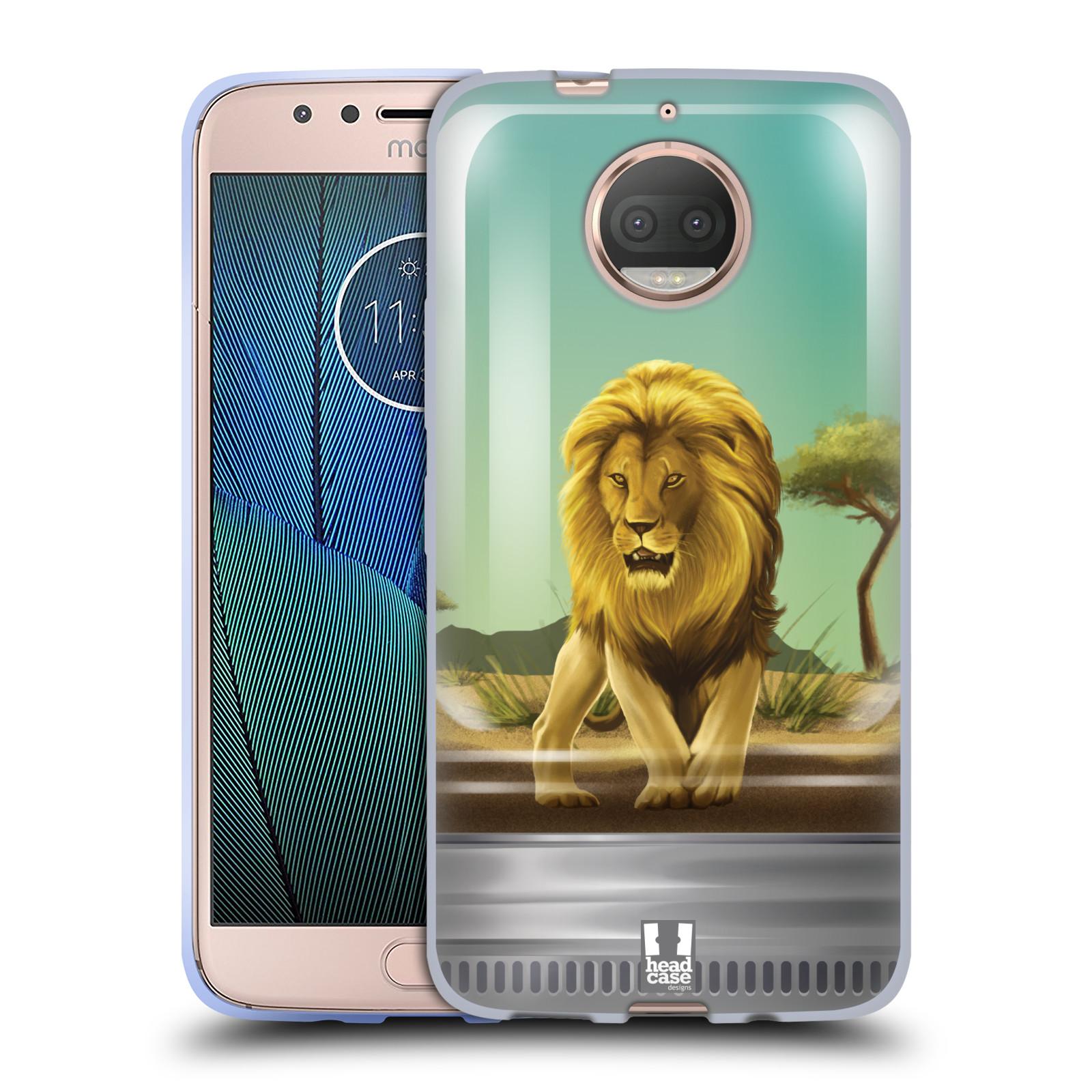 HEAD CASE silikonový obal na mobil Lenovo Moto G5s PLUS vzor Zvířátka v těžítku lev