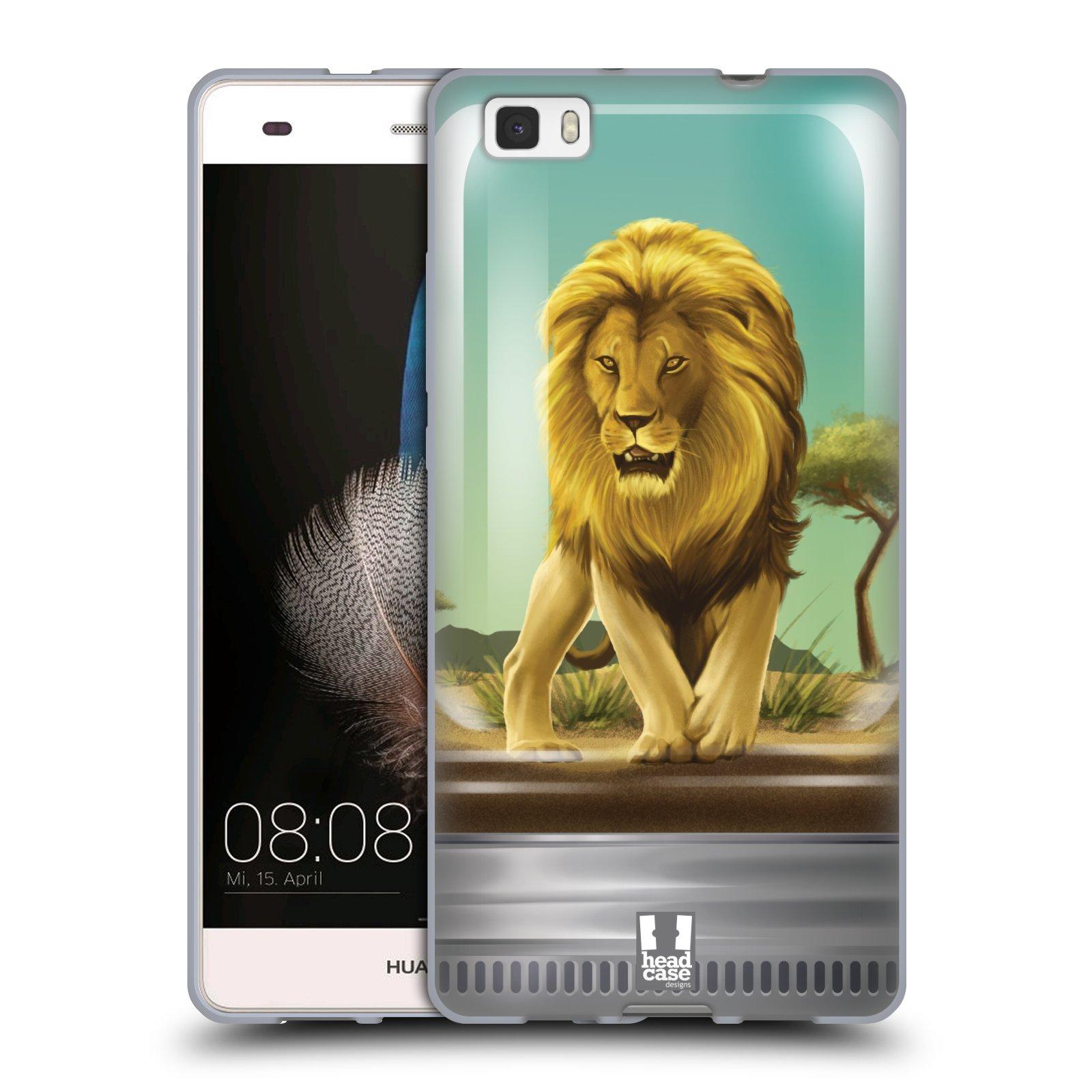 HEAD CASE silikonový obal na mobil HUAWEI P8 LITE vzor Zvířátka v těžítku lev