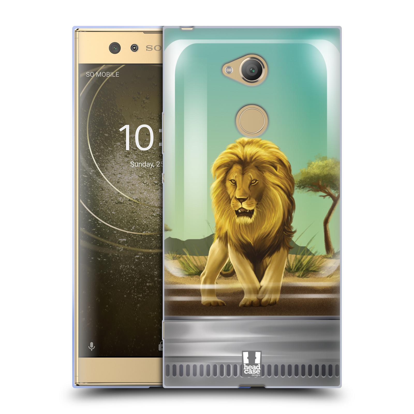 Pouzdro na mobil Sony Xperia XA2 Ultra vzor Zvířátka v těžítku lev
