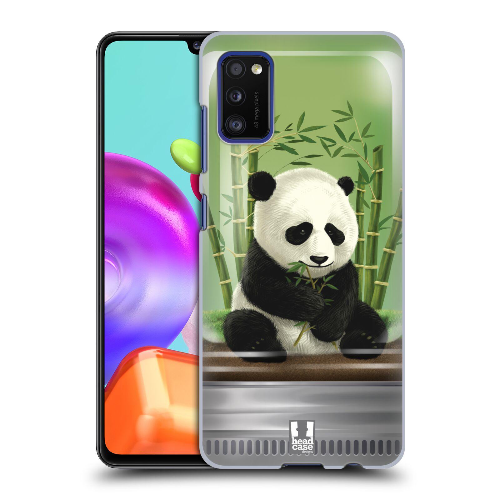 Zadní kryt na mobil Samsung Galaxy A41 vzor Zvířátka v těžítku panda