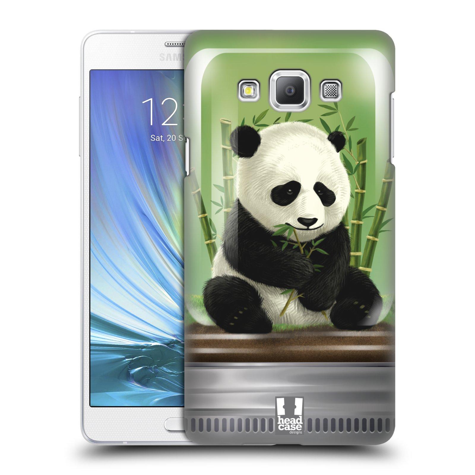 HEAD CASE plastový obal na mobil SAMSUNG GALAXY A7 vzor Zvířátka v těžítku panda