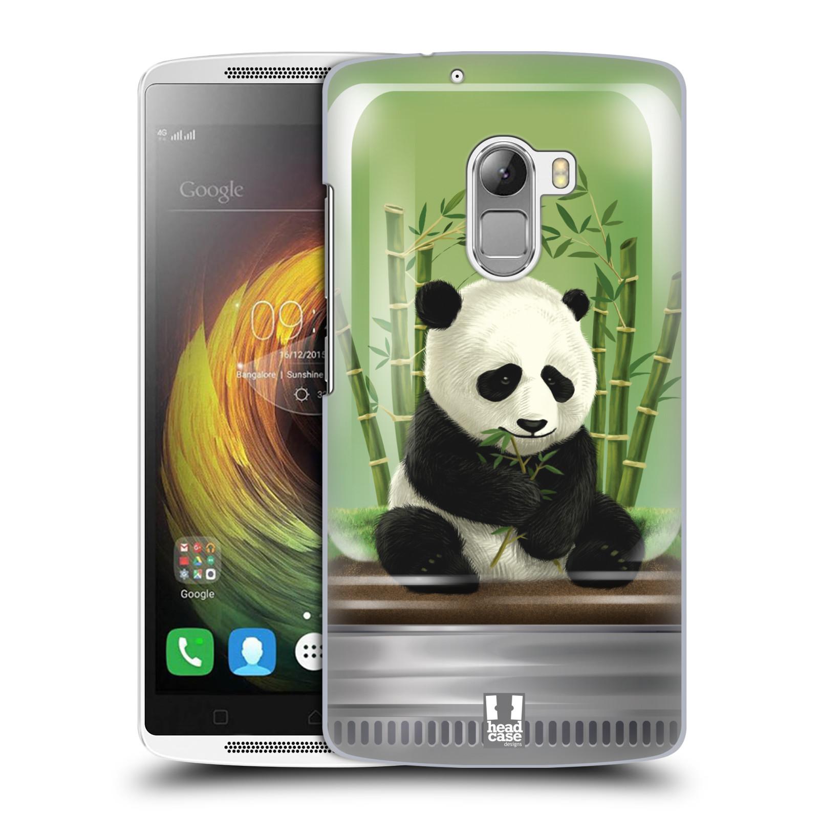HEAD CASE pevný plastový obal na mobil LENOVO A7010 / A7010 DUAL / K4 Note / Vibe X3 lite vzor Zvířátka v těžítku panda