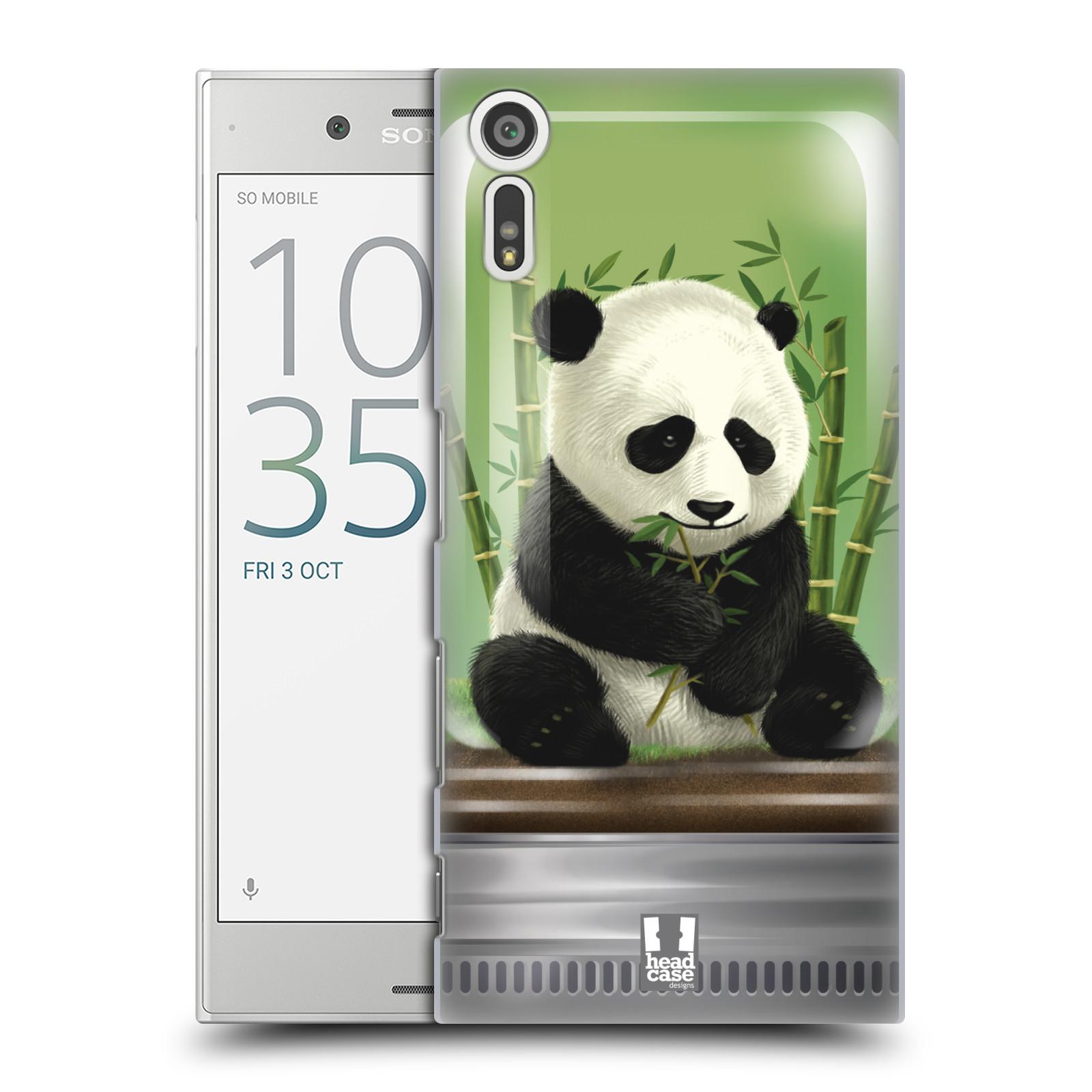HEAD CASE plastový obal na mobil Sony Xperia XZ vzor Zvířátka v těžítku panda