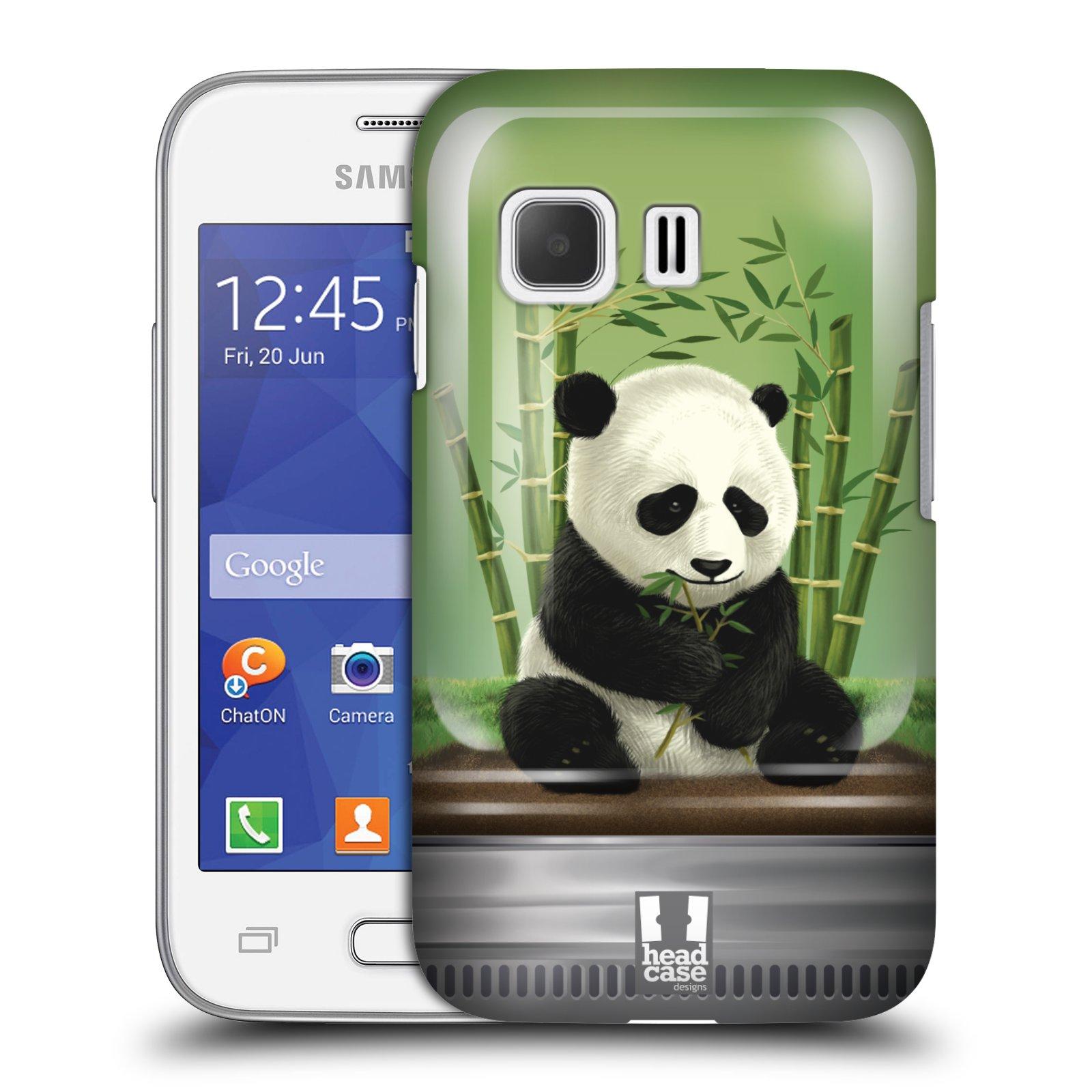 HEAD CASE plastový obal na mobil SAMSUNG Galaxy Young 2 (G130) vzor Zvířátka v těžítku panda