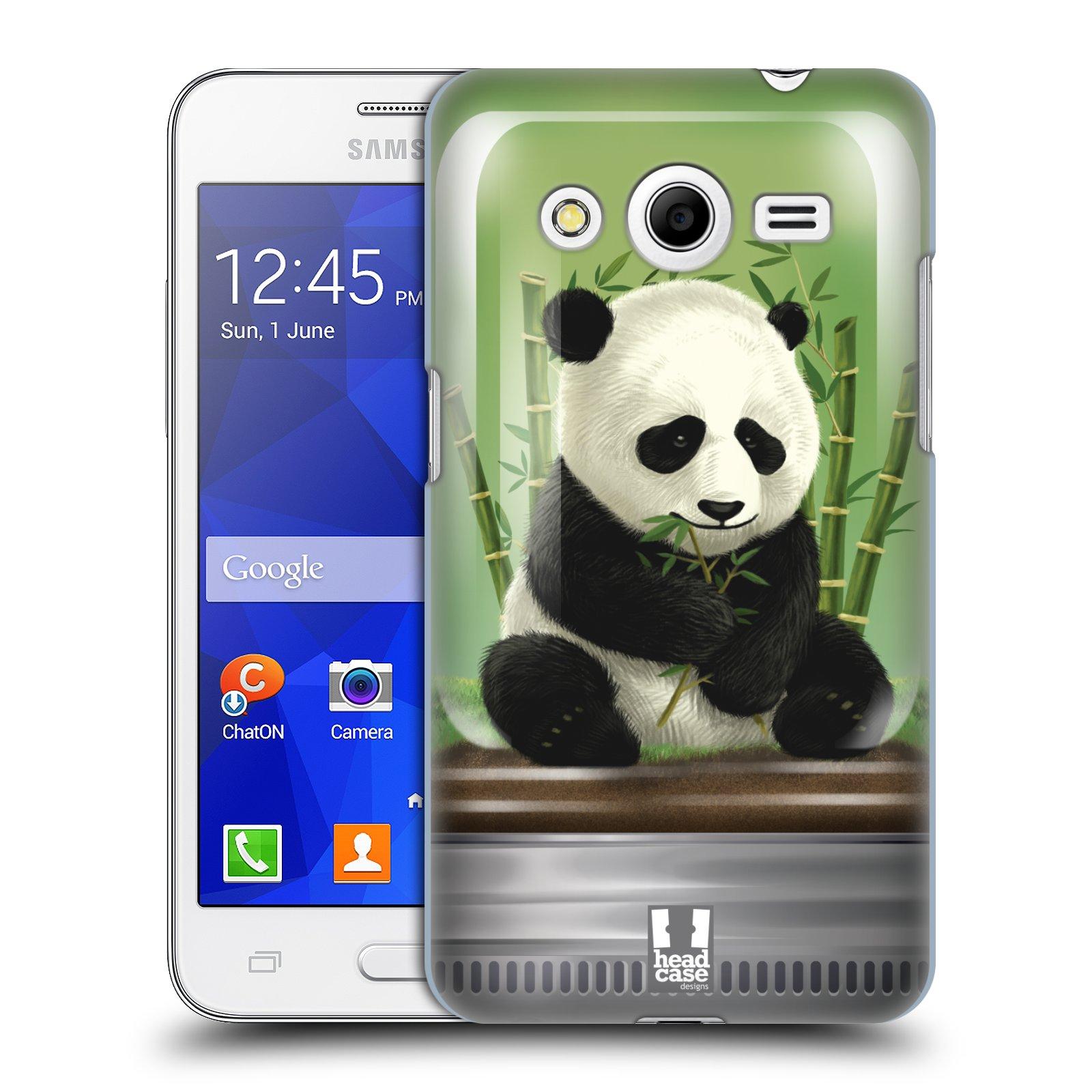 HEAD CASE plastový obal na mobil SAMSUNG GALAXY Core 2 (G355H) vzor Zvířátka v těžítku panda