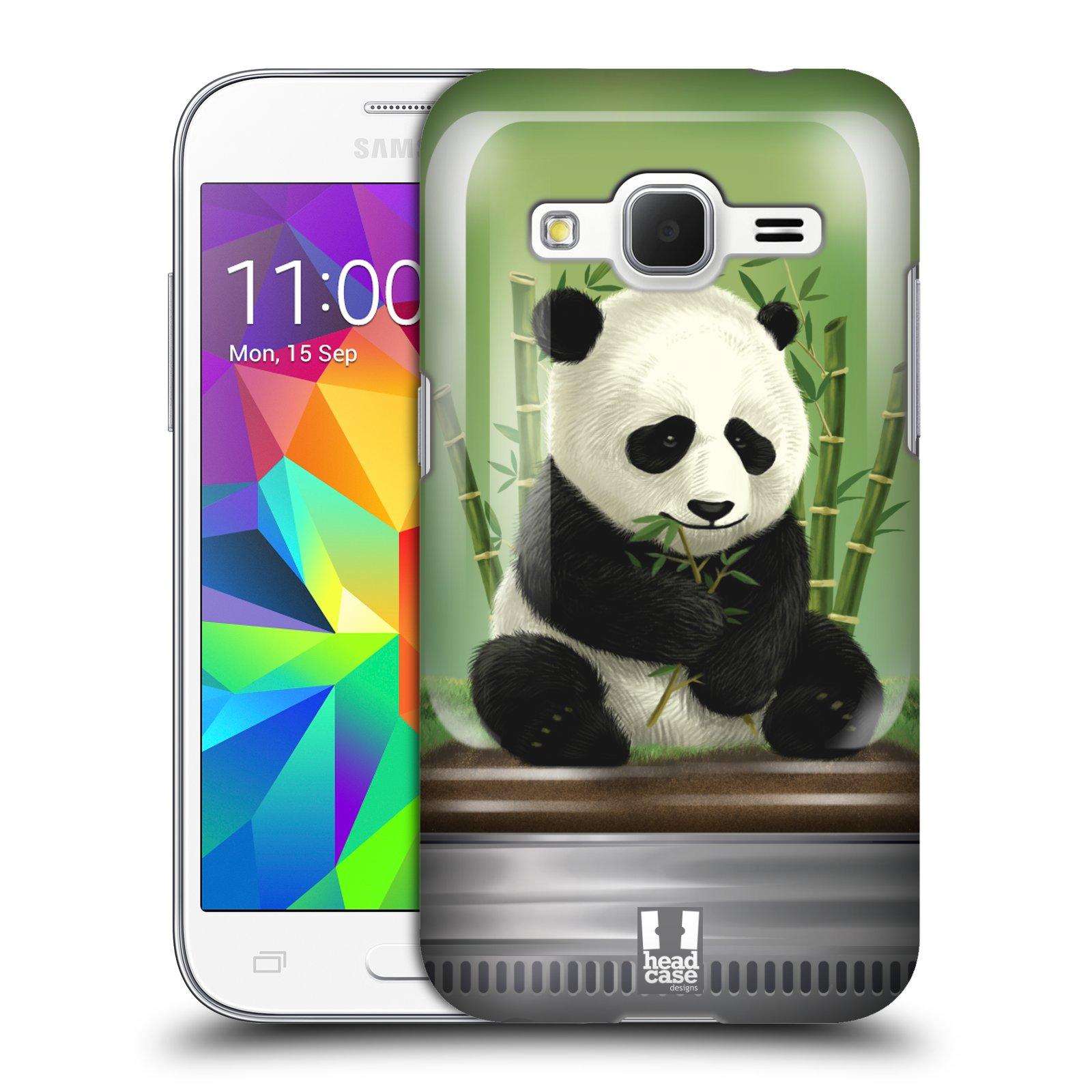 HEAD CASE plastový obal na mobil SAMSUNG GALAXY Core Prime (Core Prime VE) vzor Zvířátka v těžítku panda
