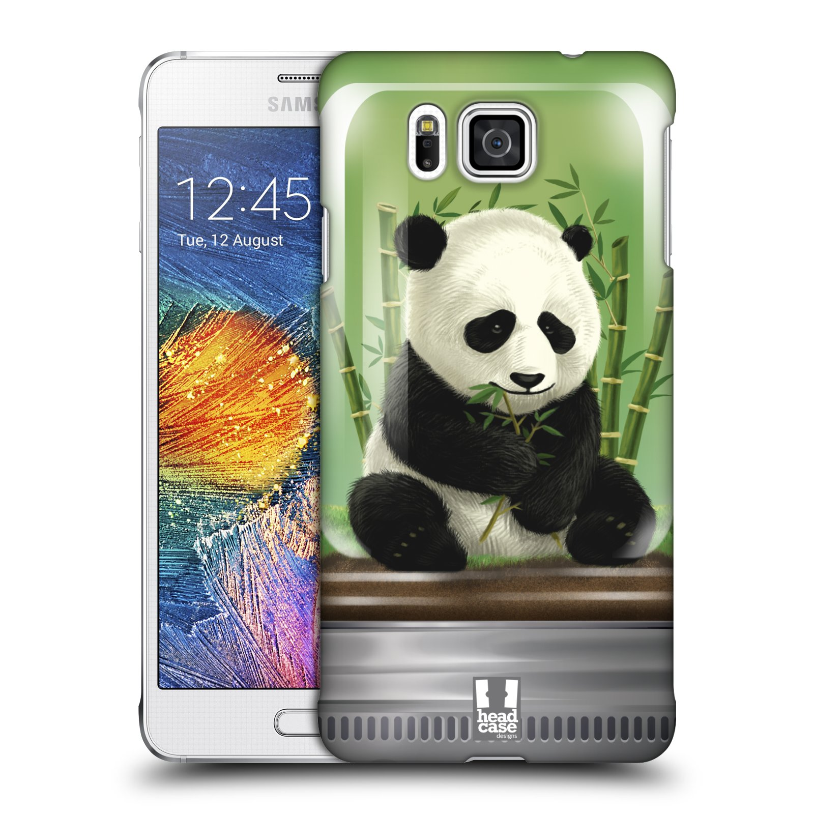 HEAD CASE plastový obal na mobil SAMSUNG Galaxy Alpha (G850) vzor Zvířátka v těžítku panda