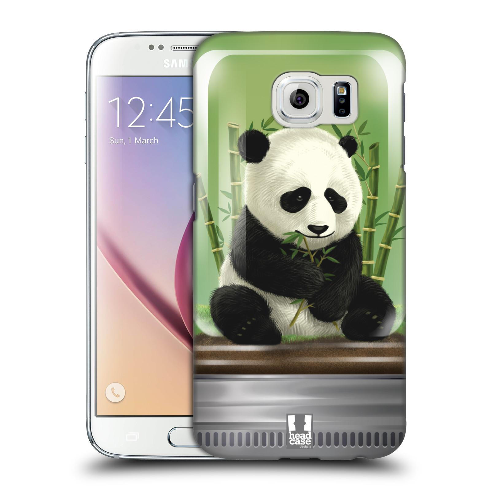HEAD CASE plastový obal na mobil SAMSUNG Galaxy S6 (G9200, G920F) vzor Zvířátka v těžítku panda