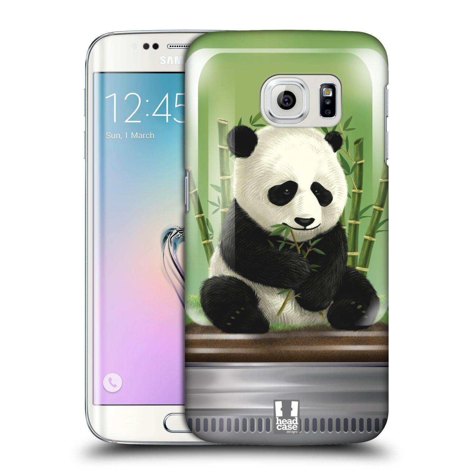 HEAD CASE plastový obal na mobil SAMSUNG Galaxy S6 EDGE (G9250, G925, G925F) vzor Zvířátka v těžítku panda
