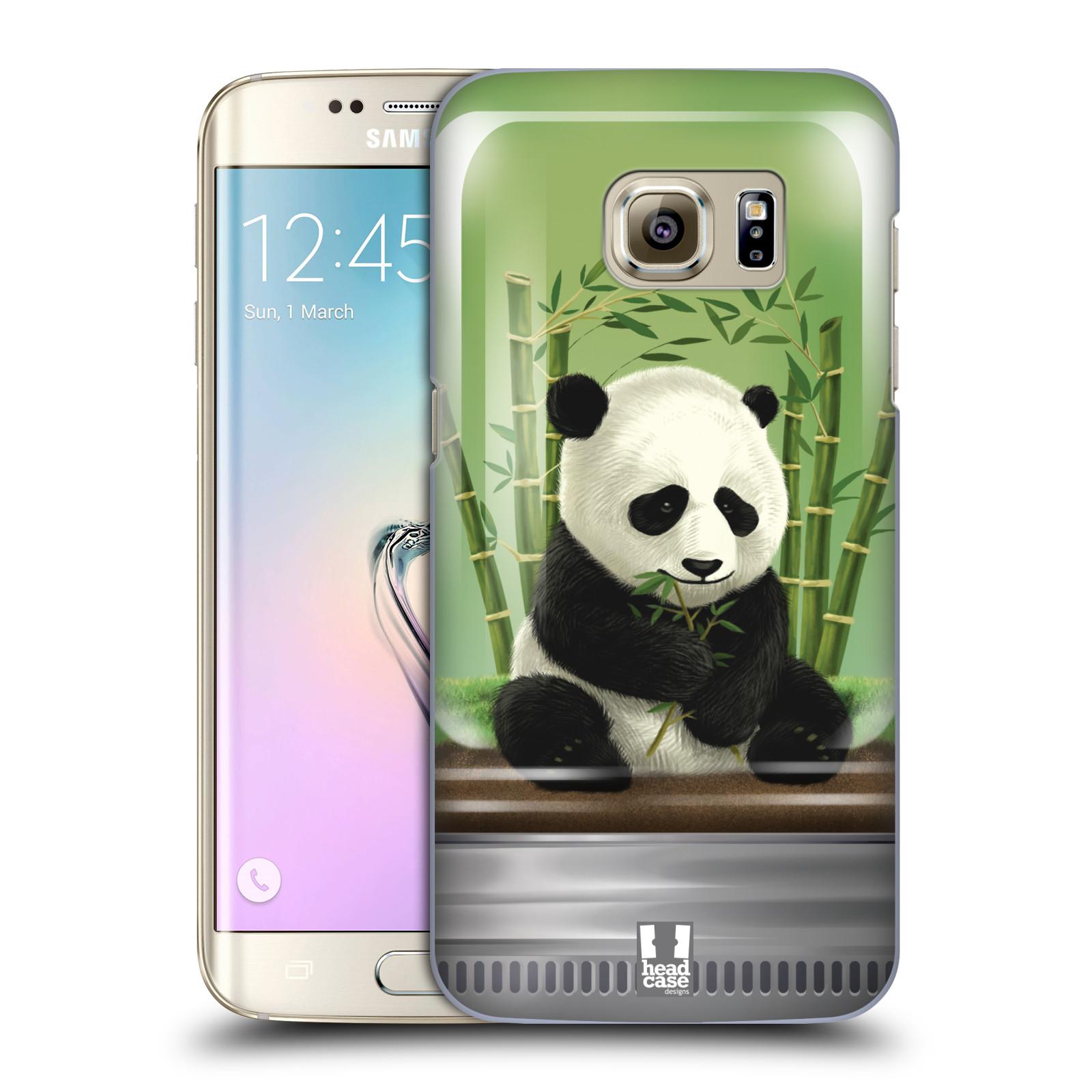 HEAD CASE plastový obal na mobil SAMSUNG GALAXY S7 EDGE vzor Zvířátka v těžítku panda