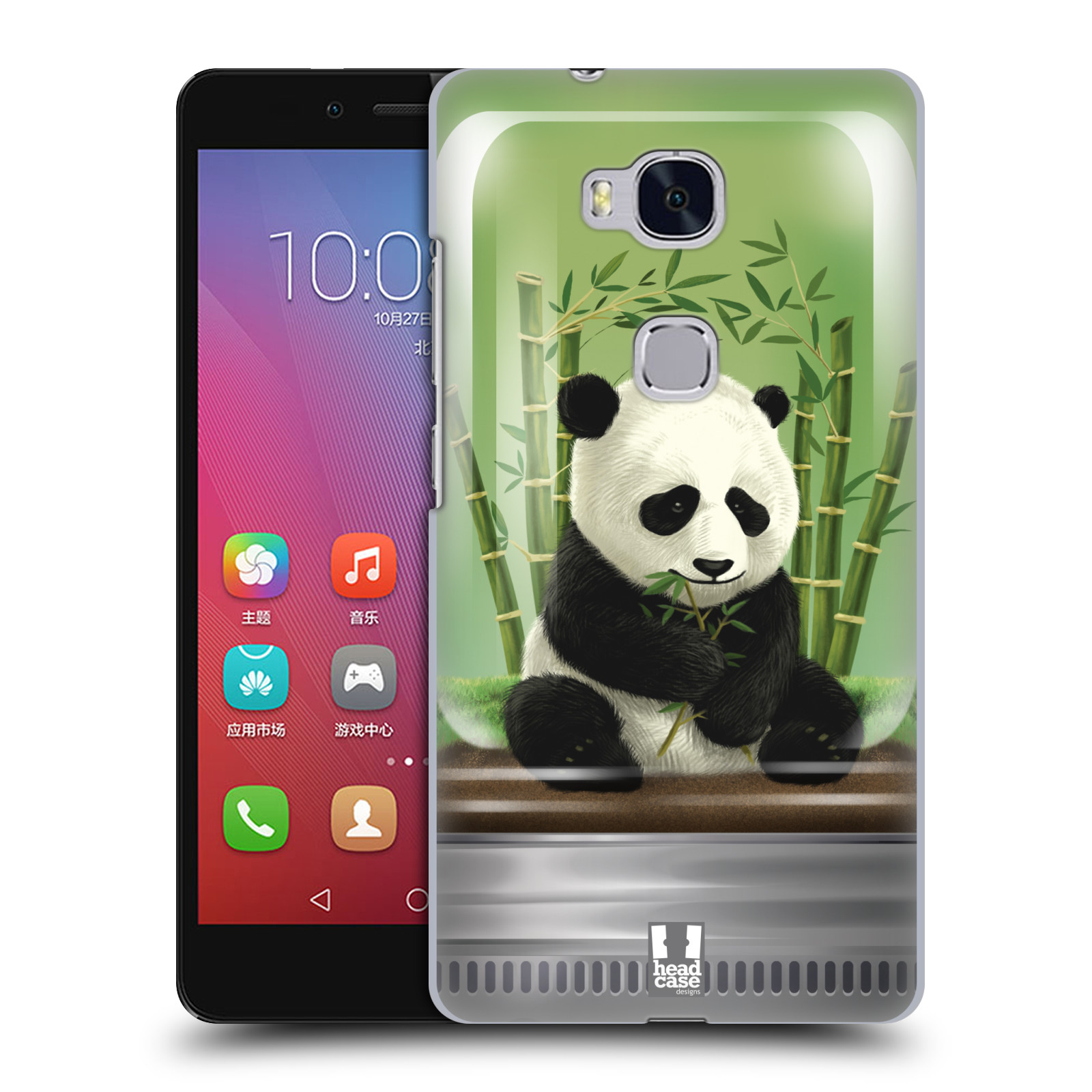 HEAD CASE pevný plastový obal na mobil HUAWEI HONOR 5X vzor Zvířátka v těžítku panda