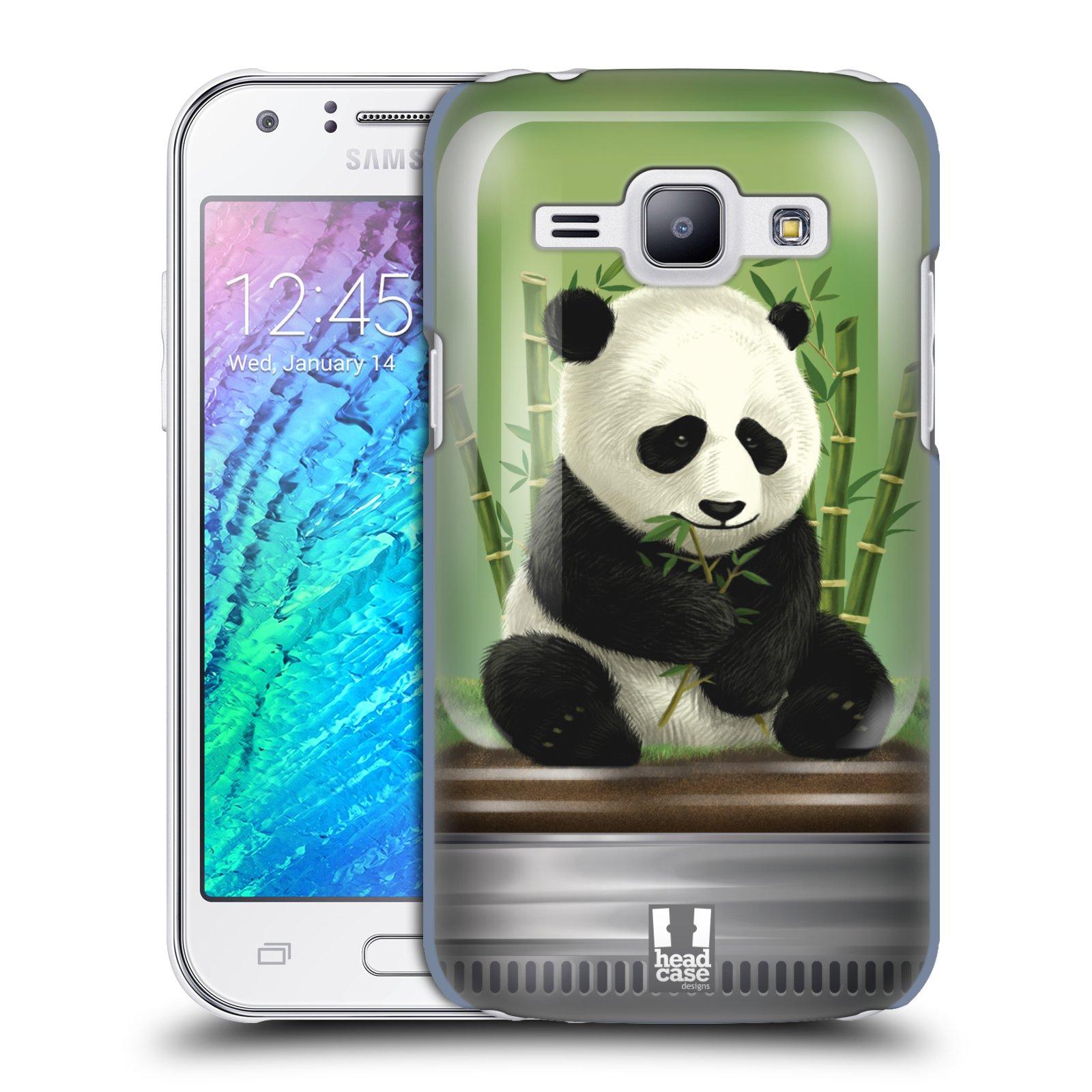 HEAD CASE plastový obal na mobil SAMSUNG Galaxy J1, J100 vzor Zvířátka v těžítku panda