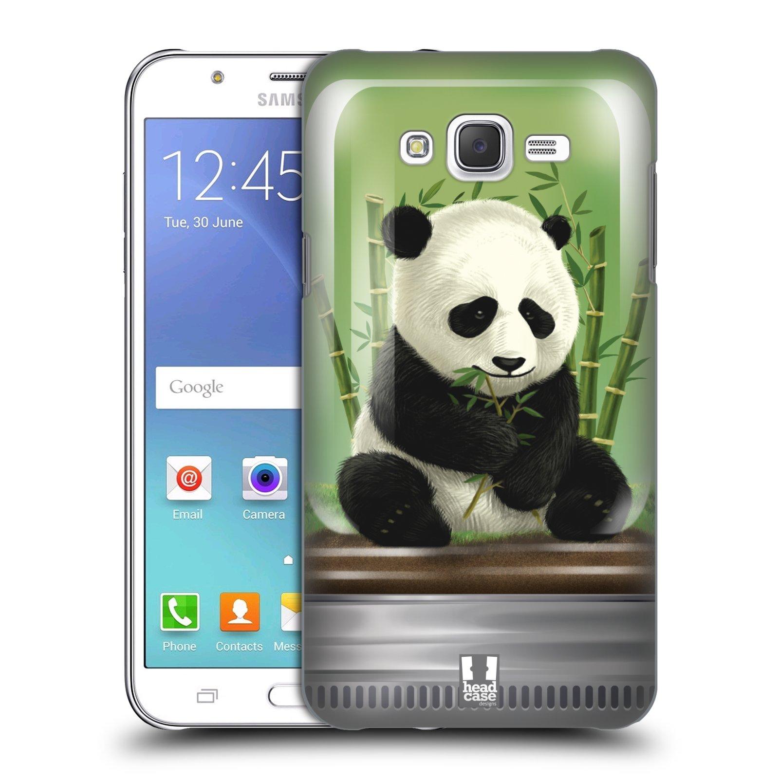 HEAD CASE plastový obal na mobil SAMSUNG Galaxy J7, J700 vzor Zvířátka v těžítku panda
