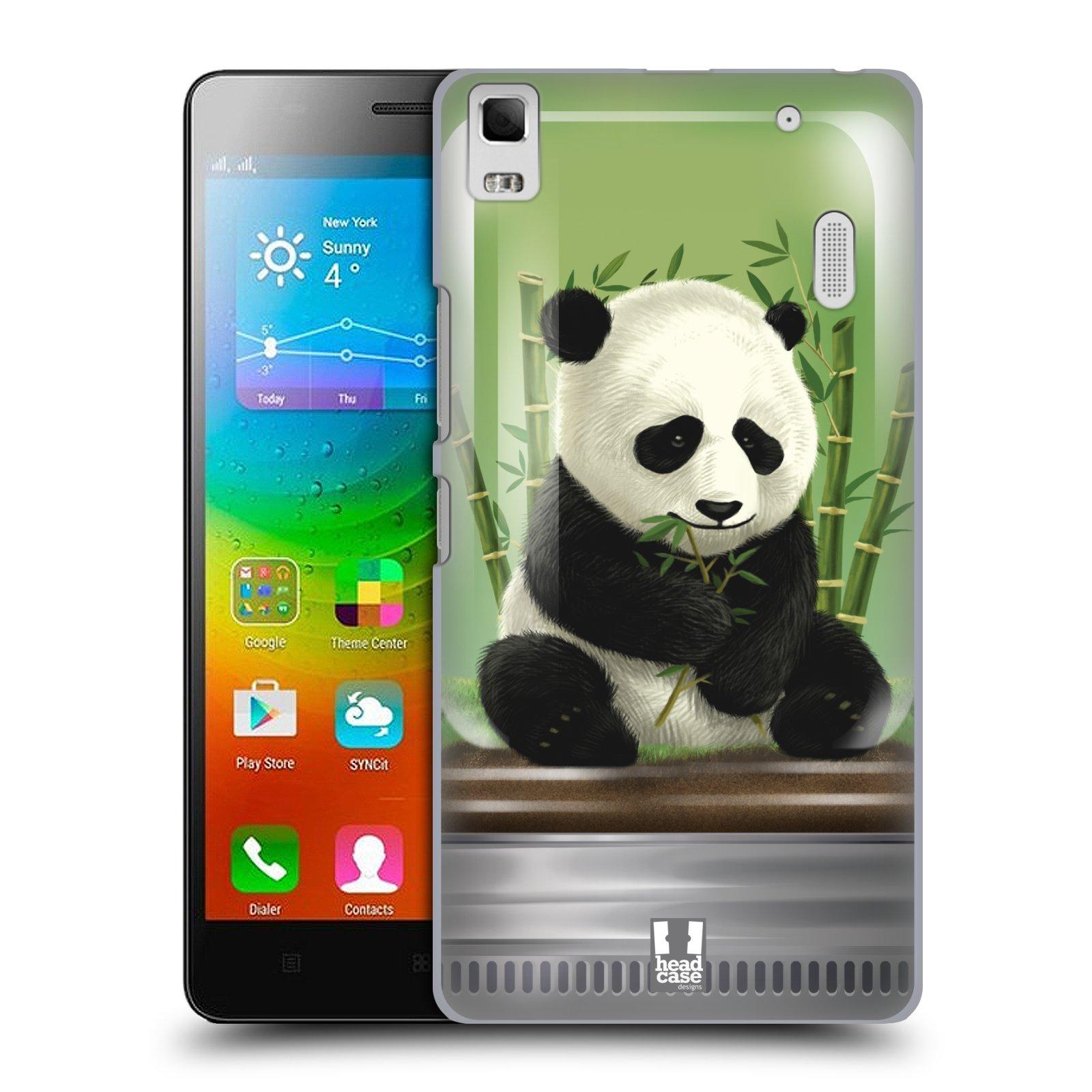 HEAD CASE pevný plastový obal na mobil LENOVO A7000 / A7000 DUAL / K3 NOTE vzor Zvířátka v těžítku panda