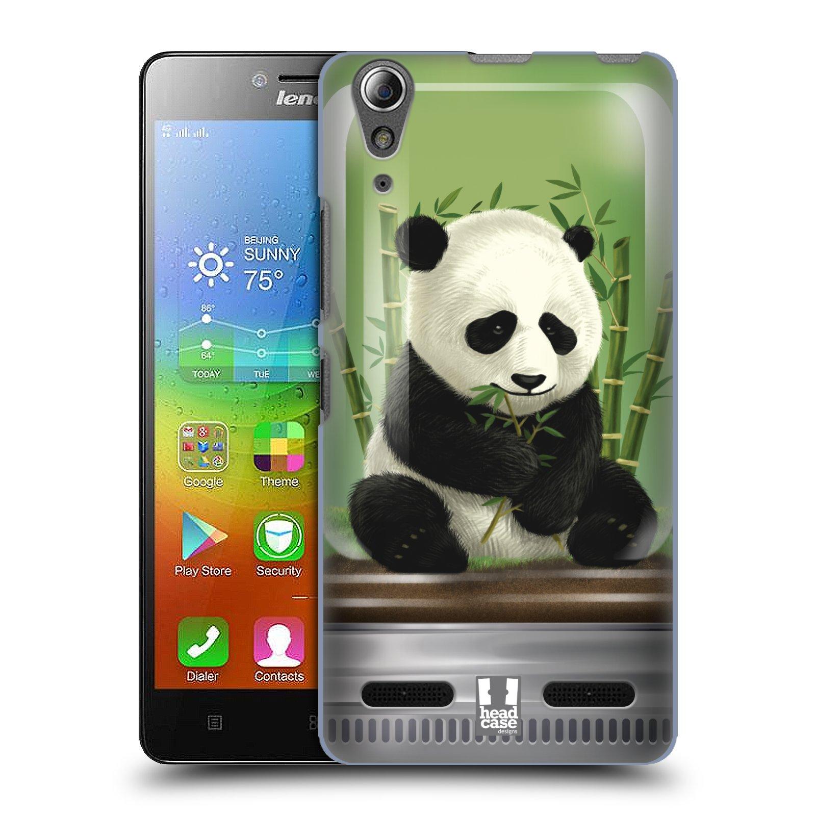 HEAD CASE pevný plastový obal na mobil LENOVO A6000 / A6000 PLUS vzor Zvířátka v těžítku panda