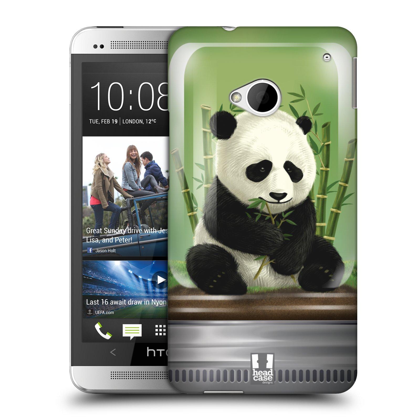 HEAD CASE plastový obal na mobil HTC One (M7) vzor Zvířátka v těžítku panda