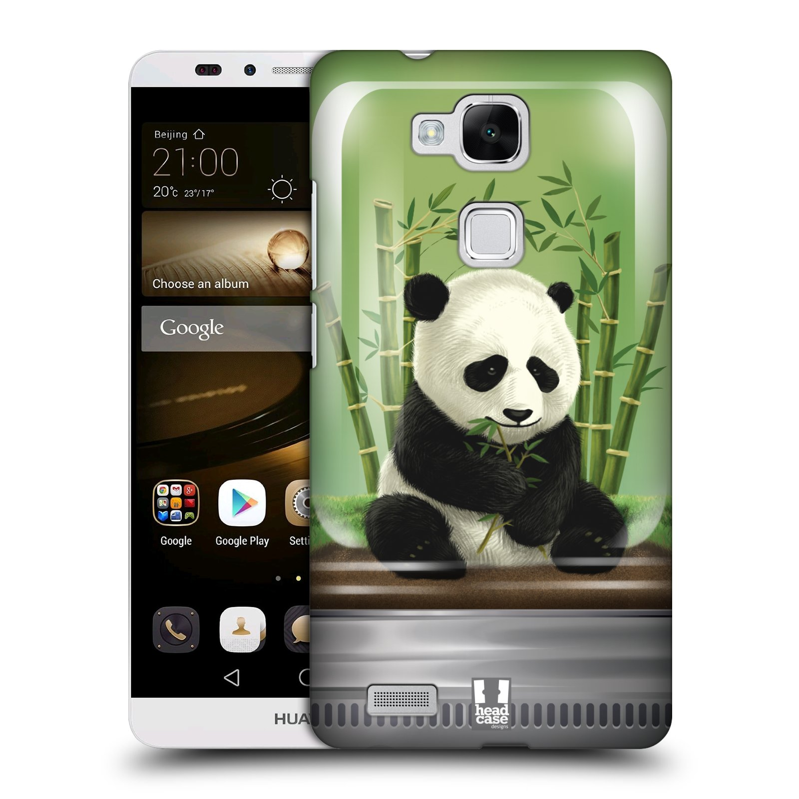 HEAD CASE plastový obal na mobil Huawei Mate 7 vzor Zvířátka v těžítku panda