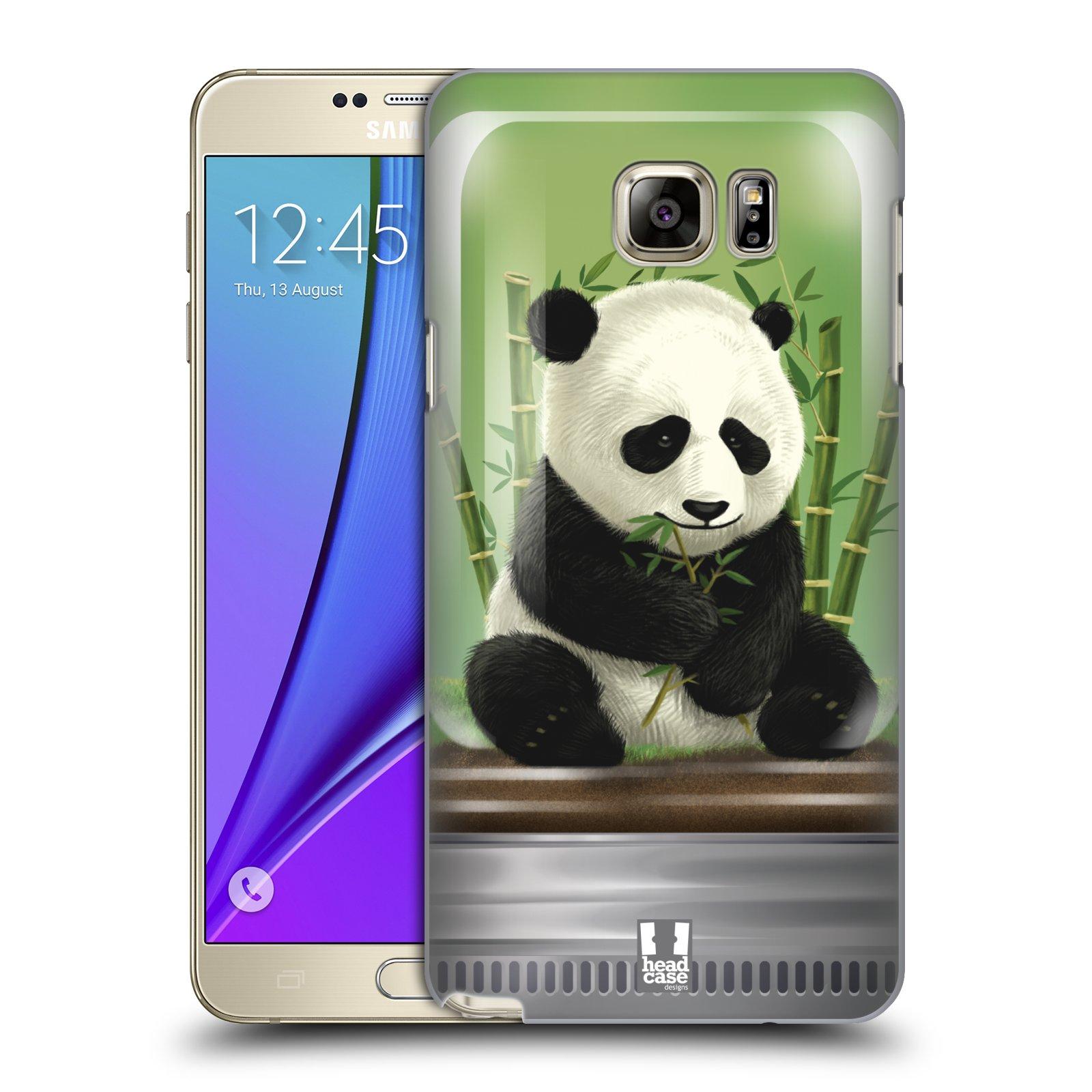 HEAD CASE plastový obal na mobil SAMSUNG Galaxy Note 5 (N920) vzor Zvířátka v těžítku panda