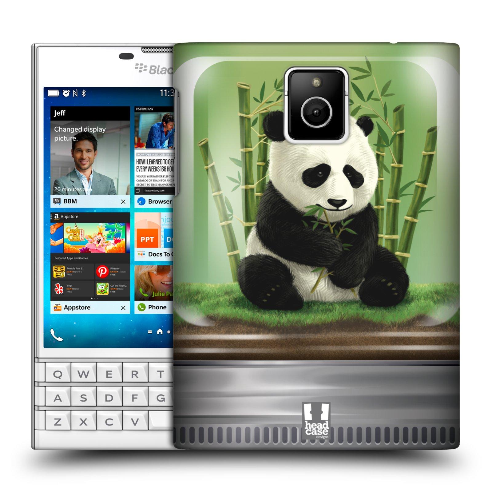 HEAD CASE plastový obal na mobil BlackBerry Passport vzor Zvířátka v těžítku panda
