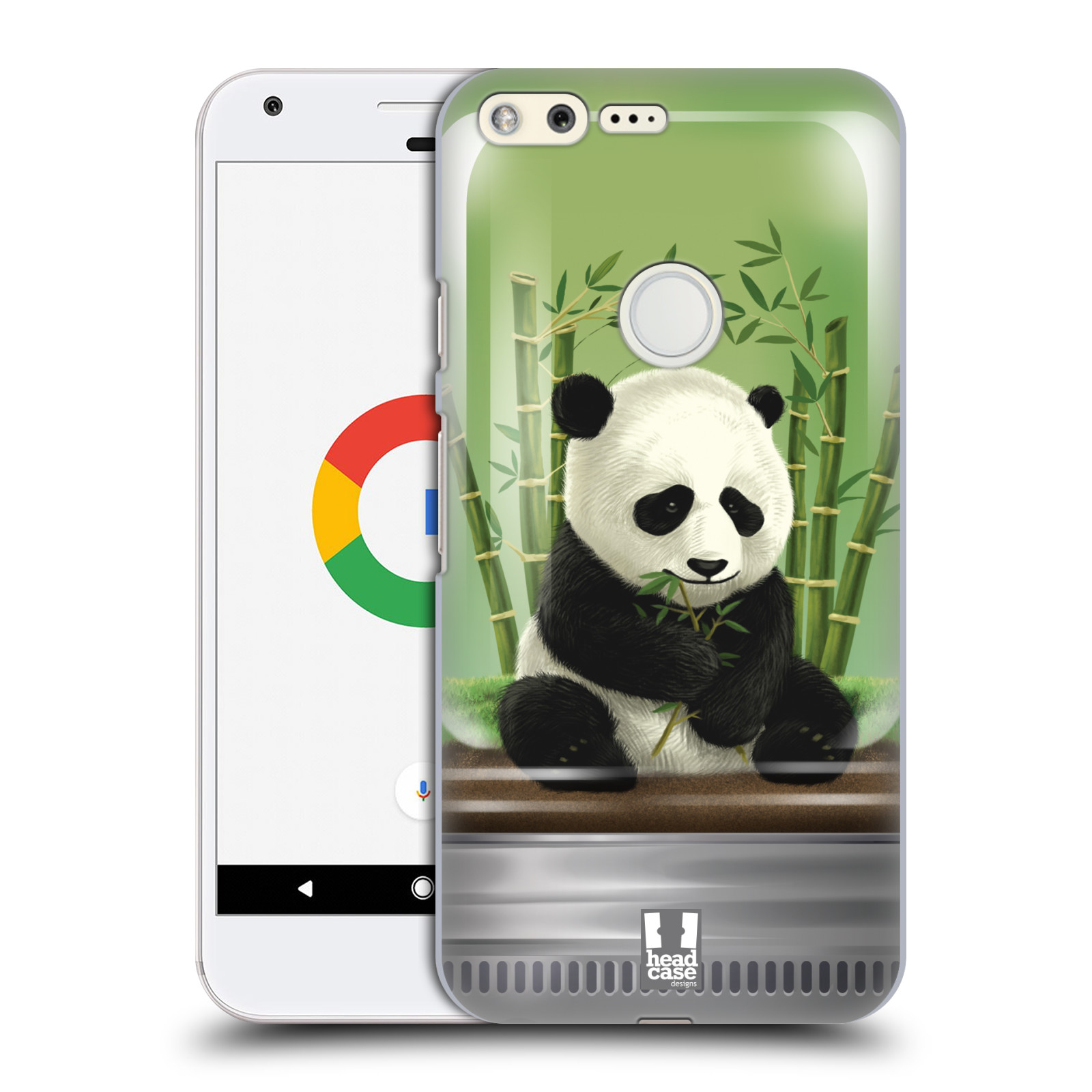 HEAD CASE plastový obal na mobil GOOGLE Pixel vzor Zvířátka v těžítku panda