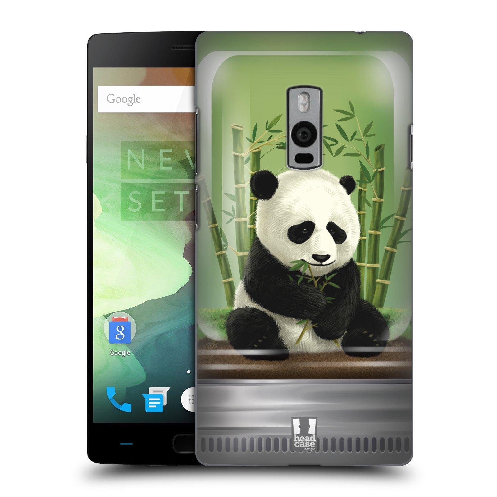HEAD CASE pevný plastový obal na mobil OnePlus 2  ( TWO ) vzor Zvířátka v těžítku panda
