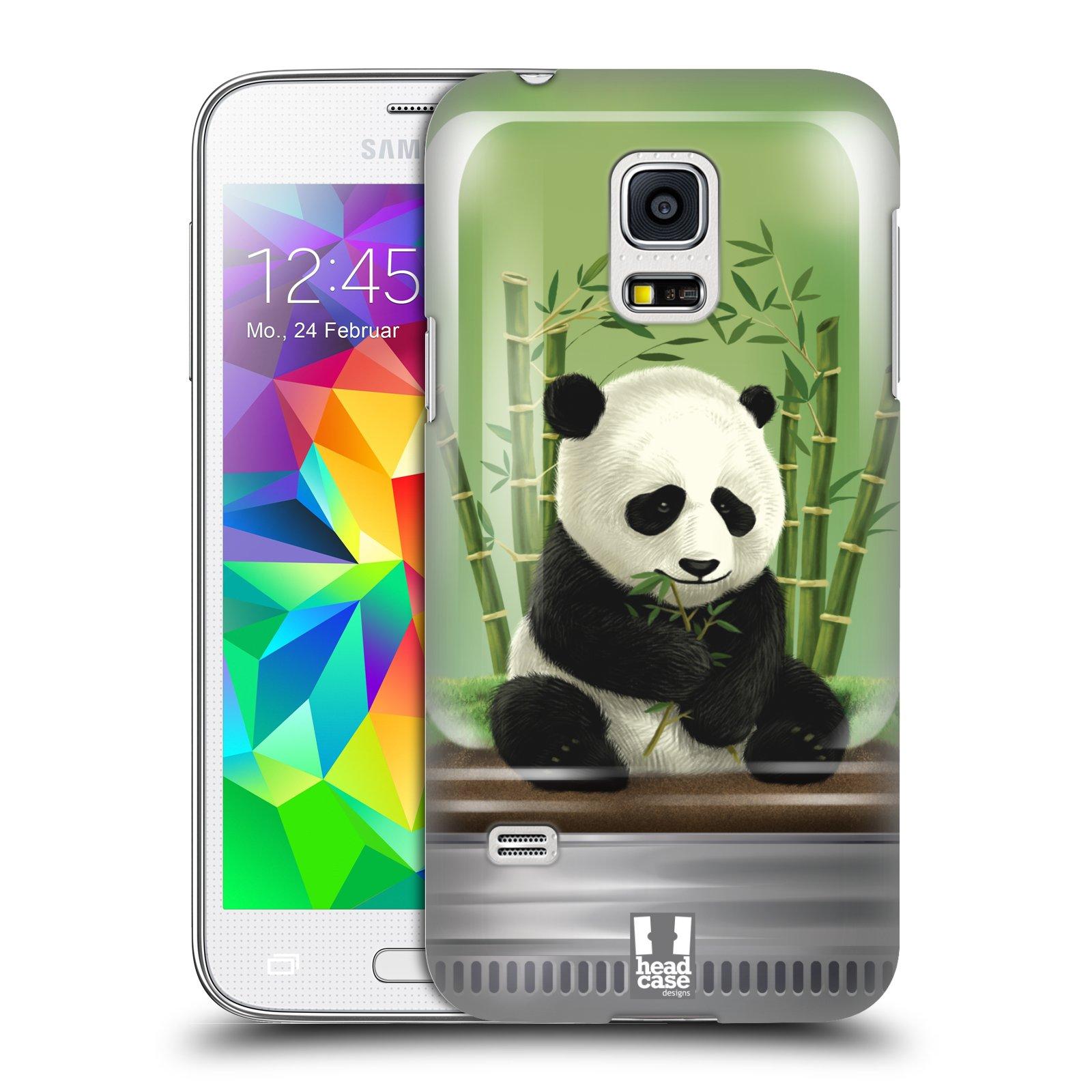 HEAD CASE plastový obal na mobil SAMSUNG Galaxy S5 MINI / S5 MINI DUOS vzor Zvířátka v těžítku panda