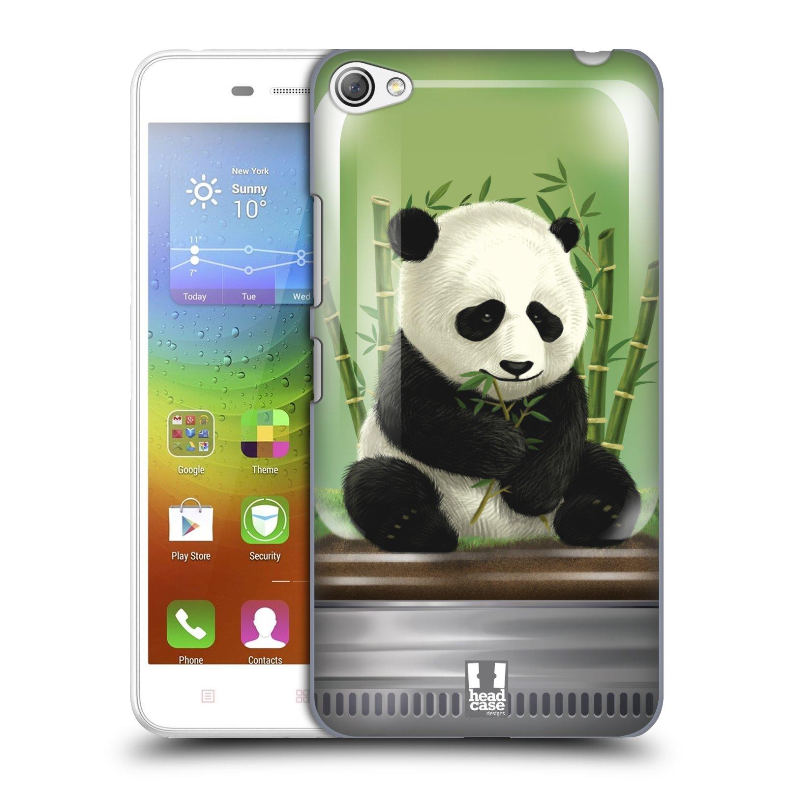 HEAD CASE pevný plastový obal na mobil LENOVO S60 / LENOVO S60 DUAL SIM vzor Zvířátka v těžítku panda