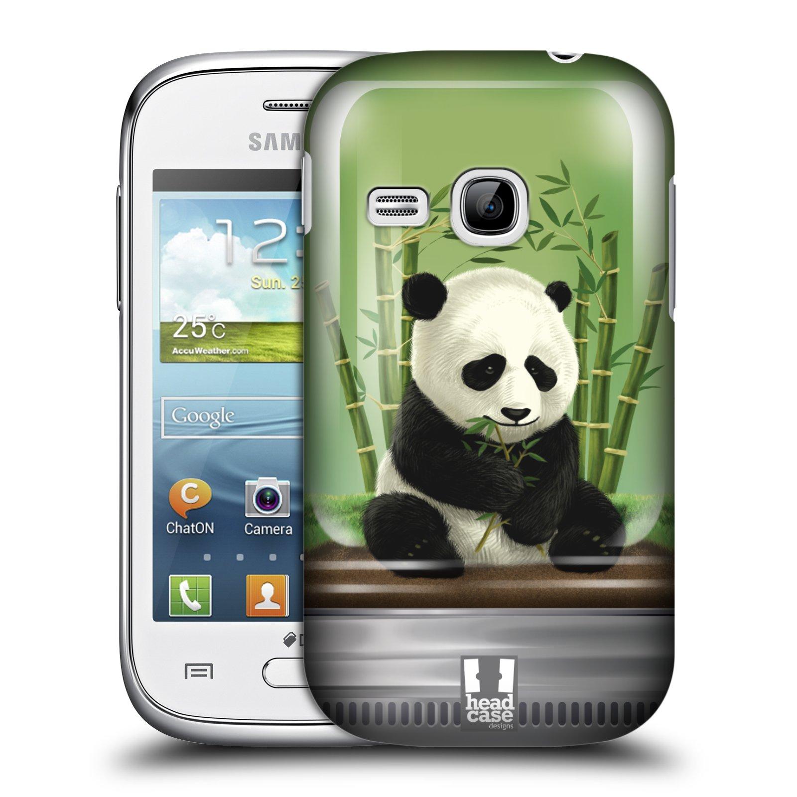 HEAD CASE plastový obal na mobil SAMSUNG Galaxy Young S6310 vzor Zvířátka v těžítku panda