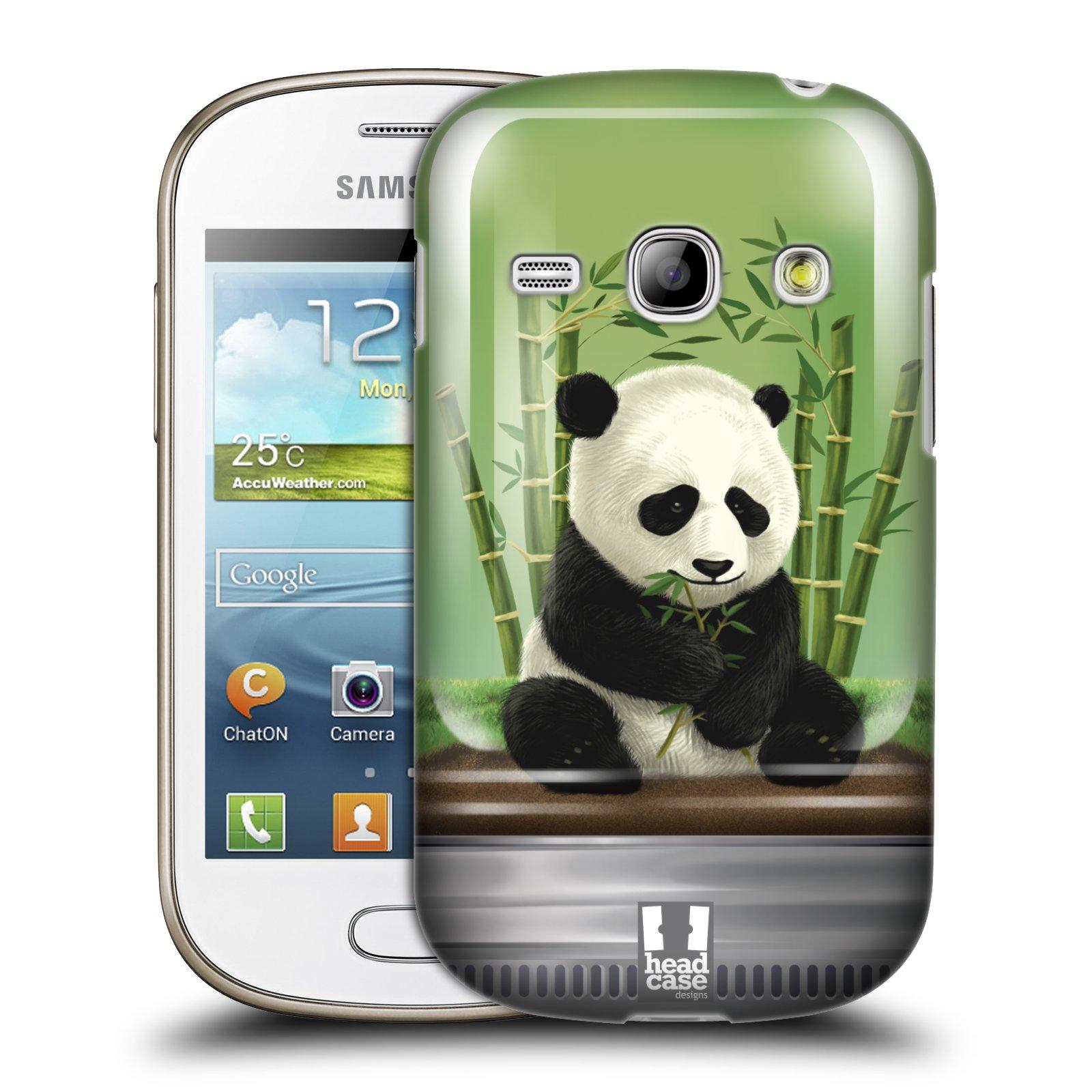 HEAD CASE plastový obal na mobil SAMSUNG GALAXY FAME (S6810) vzor Zvířátka v těžítku panda