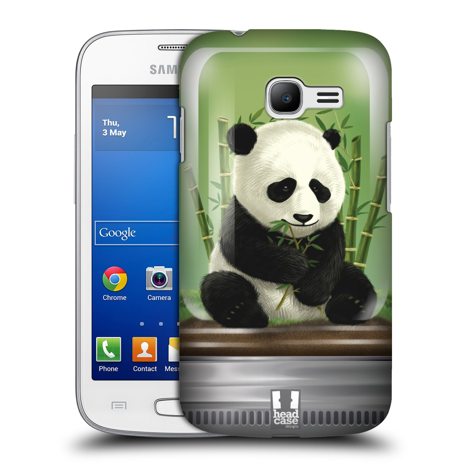 HEAD CASE plastový obal na mobil SAMSUNG GALAXY Star Pro S7260/S7262 DUOS vzor Zvířátka v těžítku panda