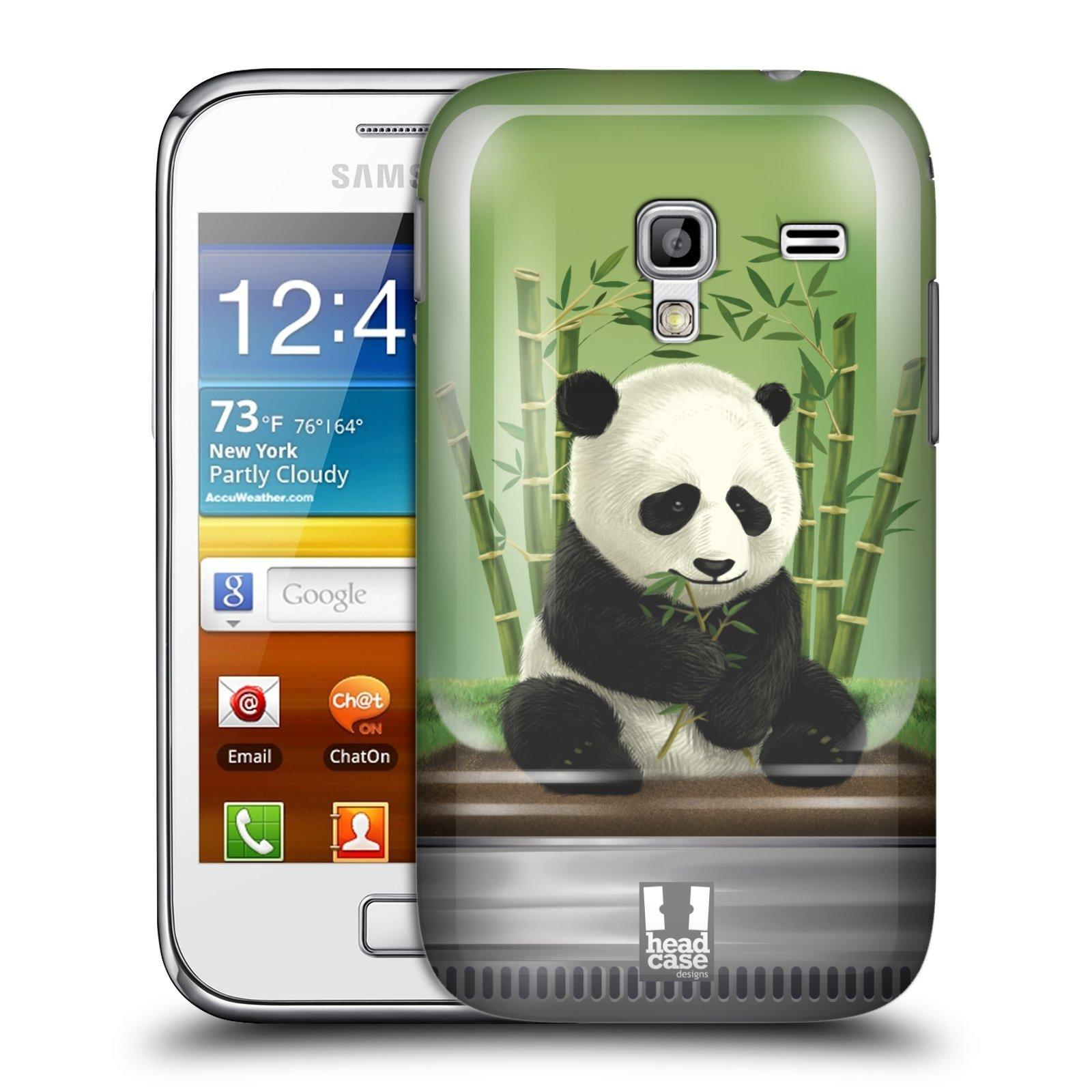 HEAD CASE plastový obal na mobil SAMSUNG GALAXY ACE PLUS (S7500) vzor Zvířátka v těžítku panda
